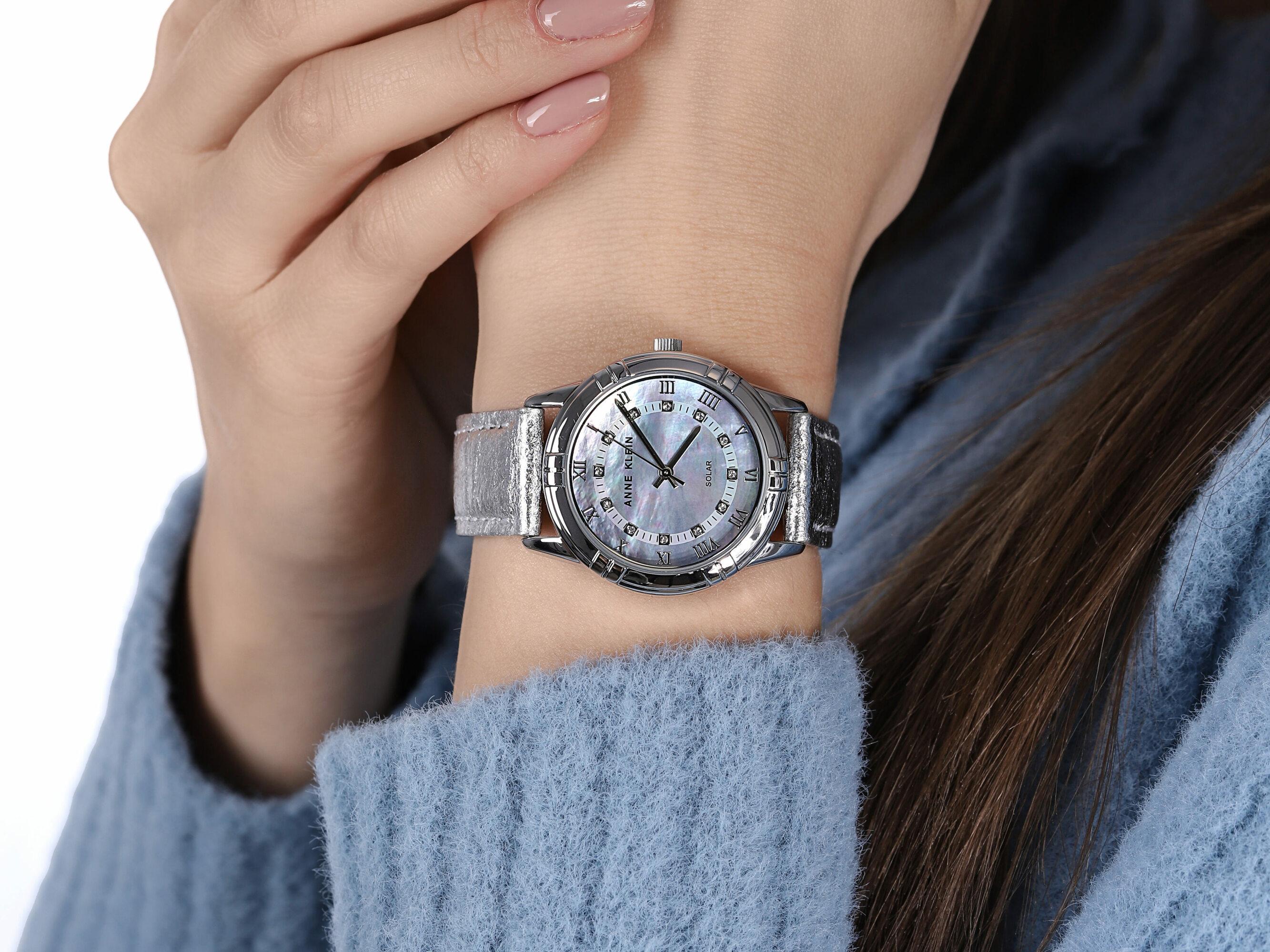 Anne Klein AK-3767MPSI zegarek klasyczny Pasek