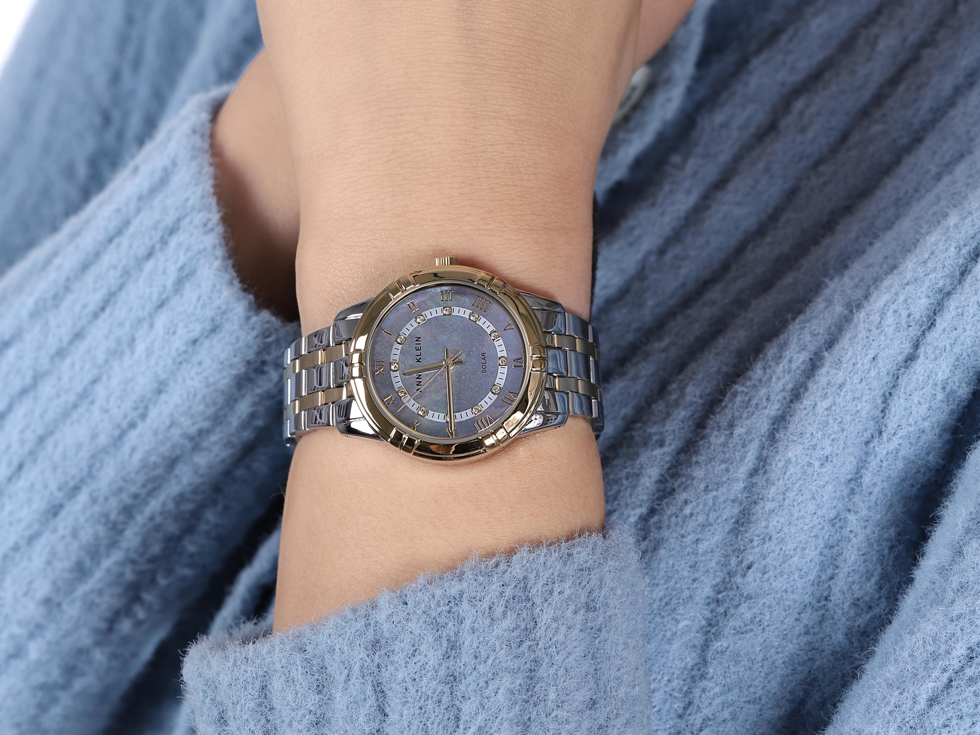 Anne Klein AK-3769MPTT zegarek srebrny klasyczny Bransoleta bransoleta