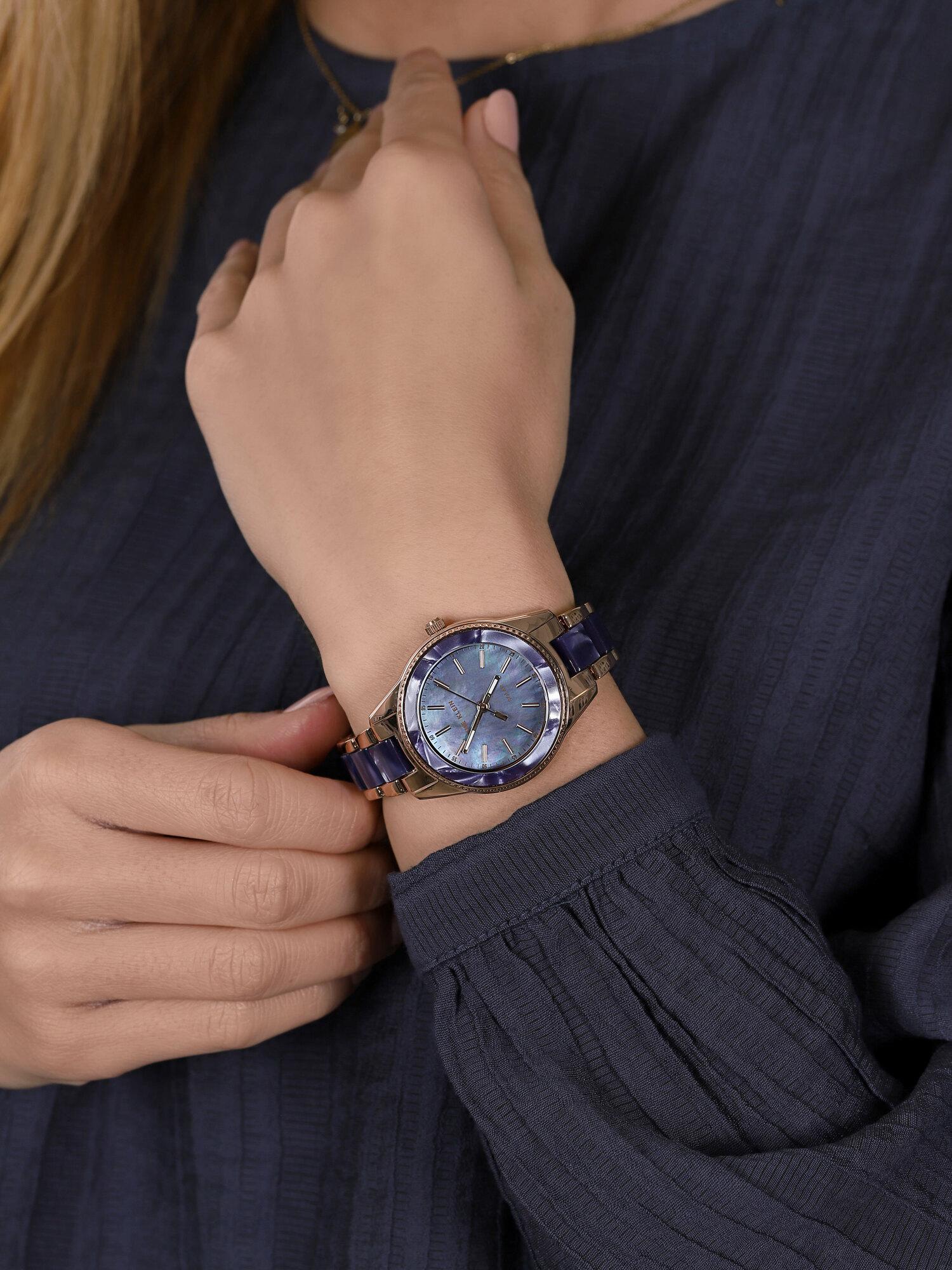 Anne Klein AK-3770NVRG zegarek niebieski klasyczny Bransoleta bransoleta