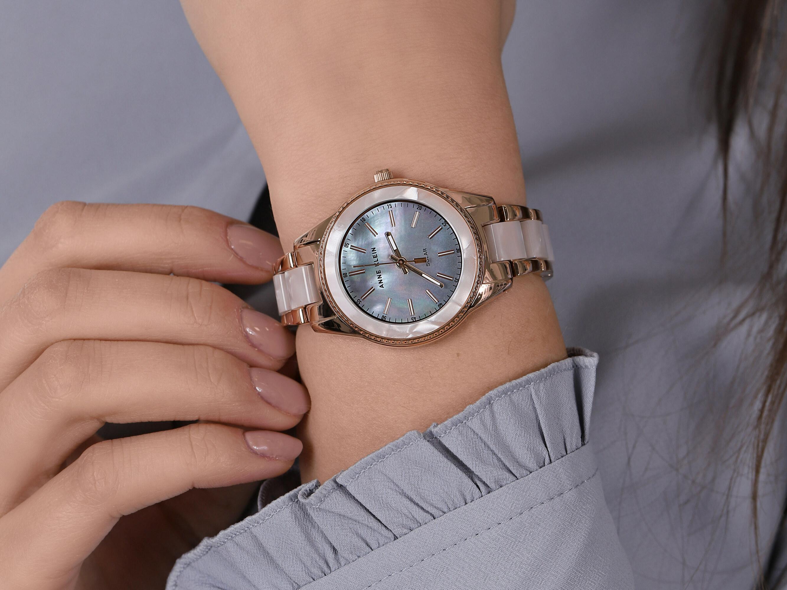 Anne Klein AK-3770WTRG zegarek klasyczny Bransoleta