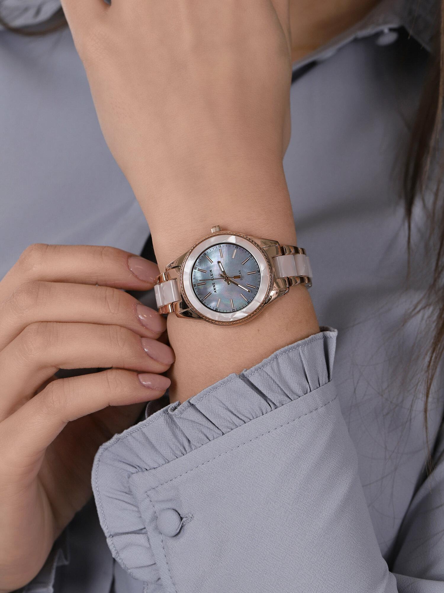 Anne Klein AK-3770WTRG zegarek różowe złoto klasyczny Bransoleta bransoleta