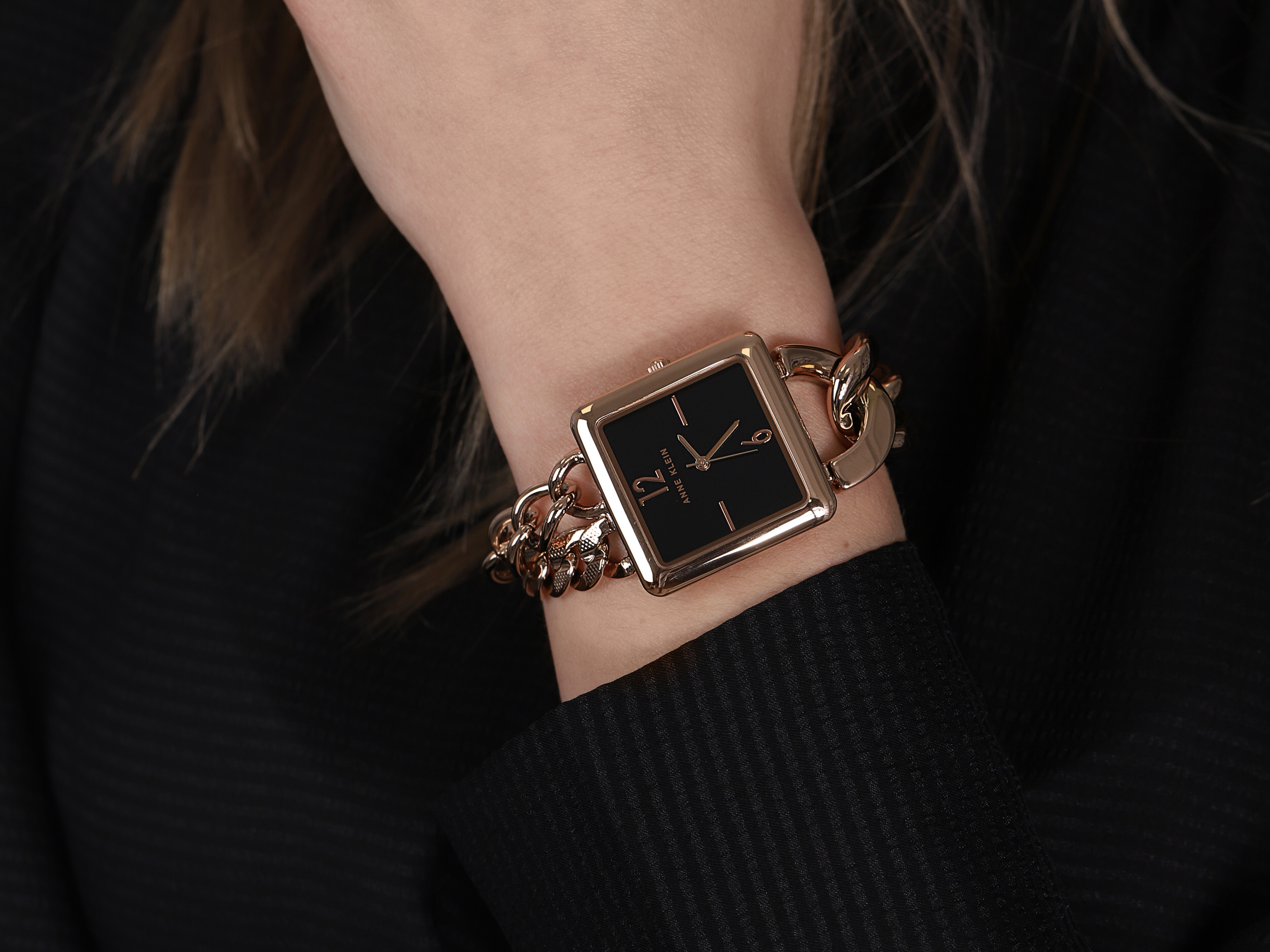 Anne Klein AK-3804BKRG damski zegarek Bransoleta bransoleta