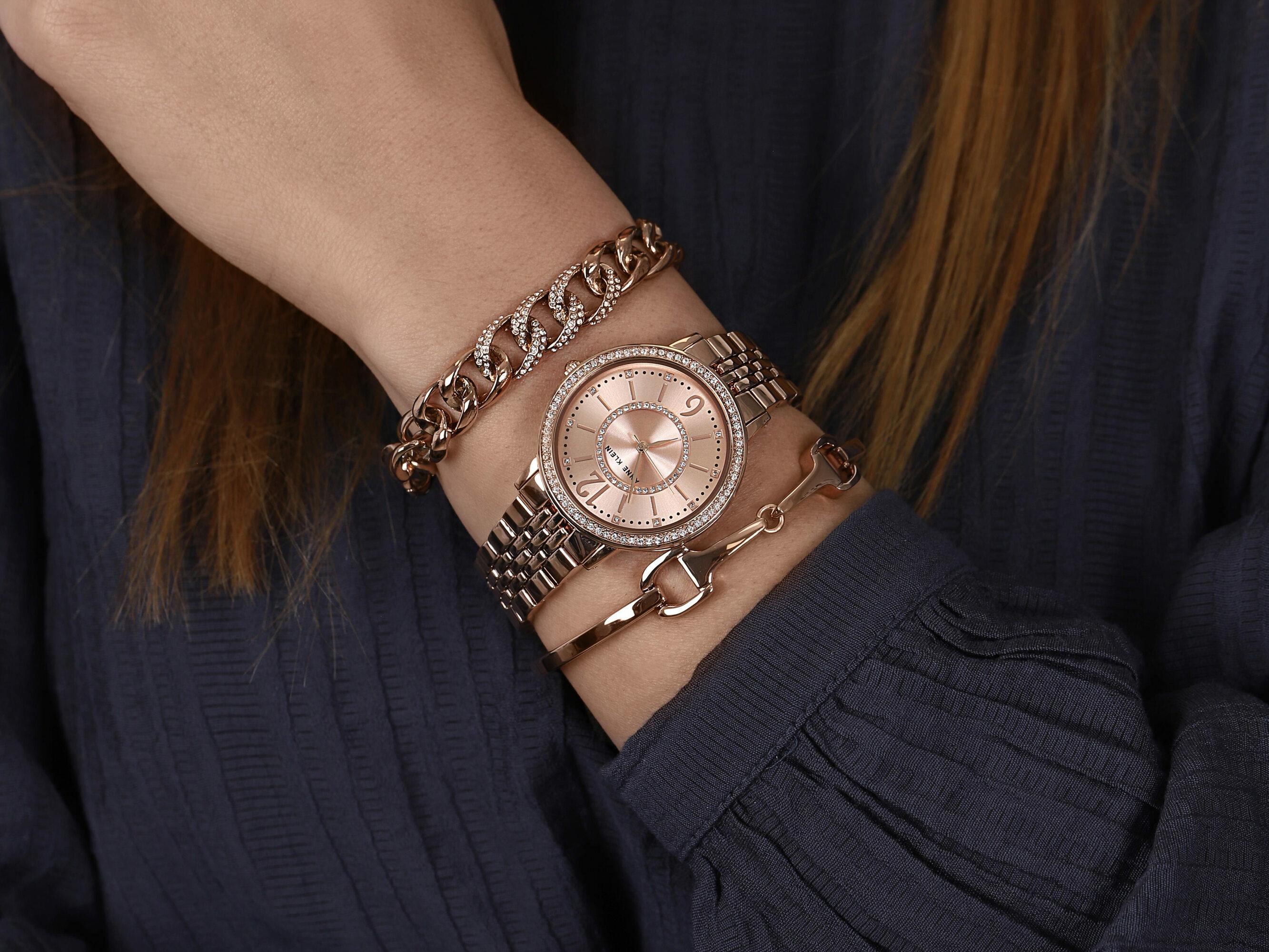 Anne Klein AK-3838RGST zegarek damski Bransoleta