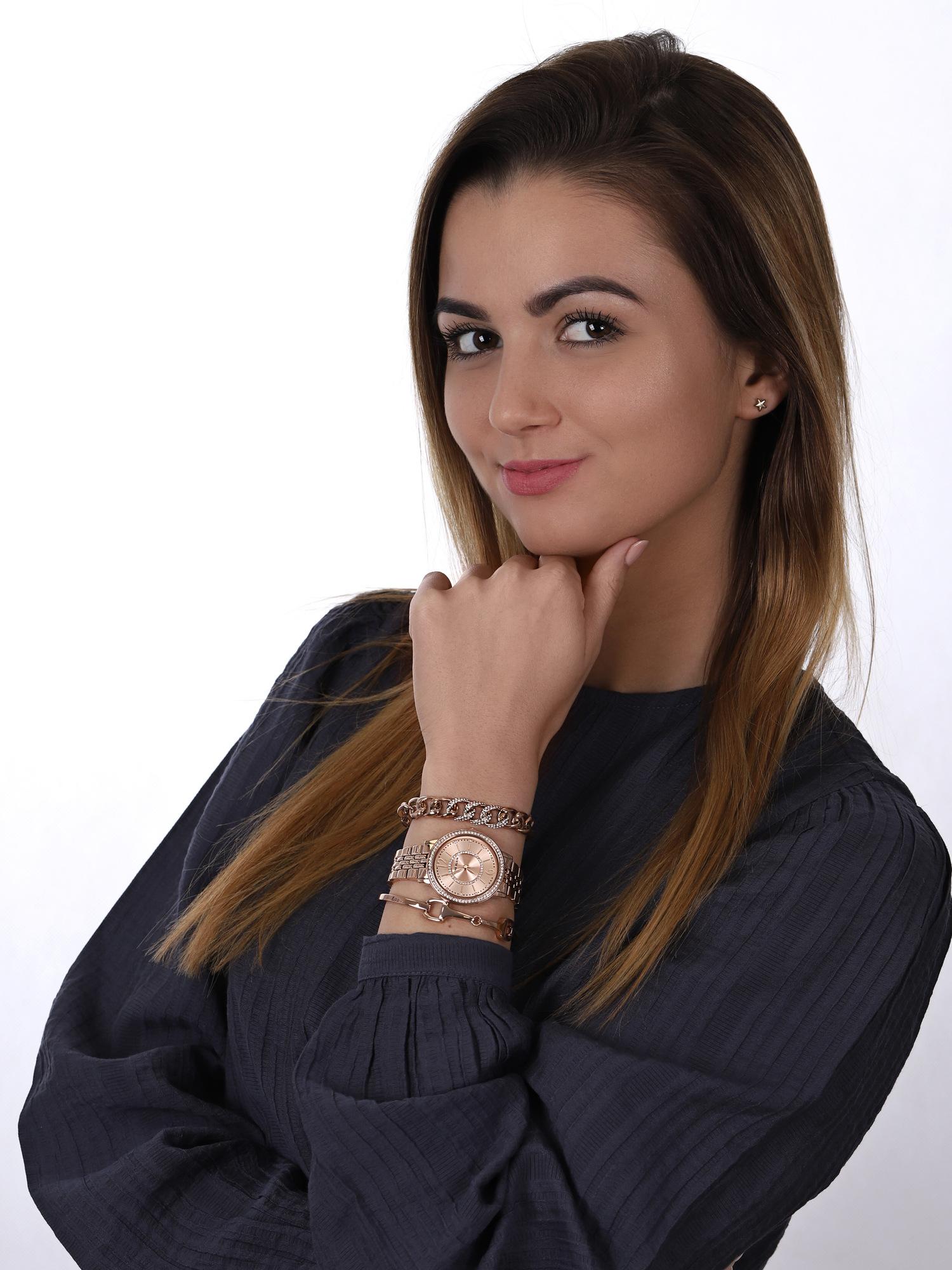 Anne Klein AK-3838RGST zegarek klasyczny Bransoleta