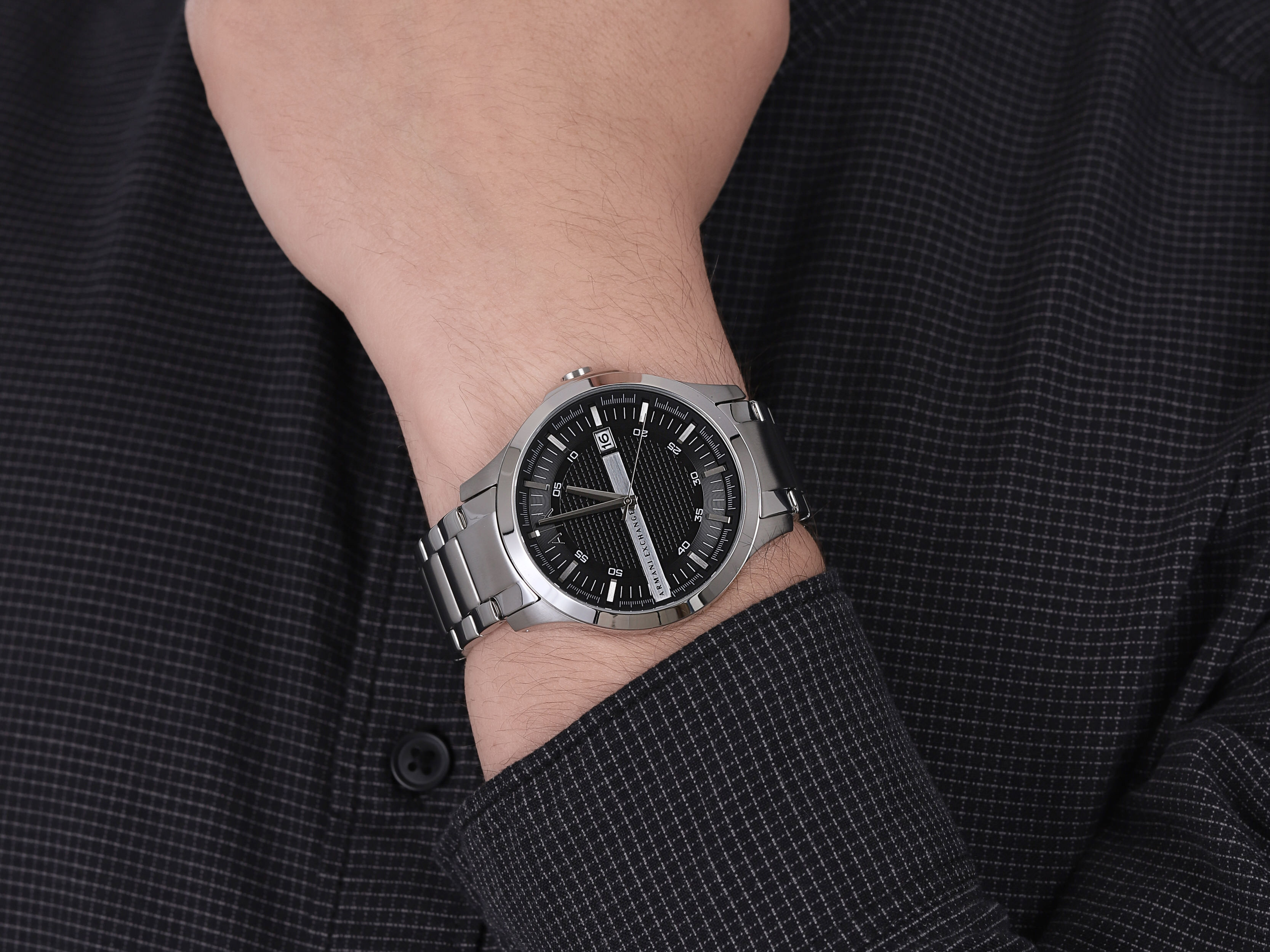 Armani Exchange AX2103 męski zegarek Fashion bransoleta