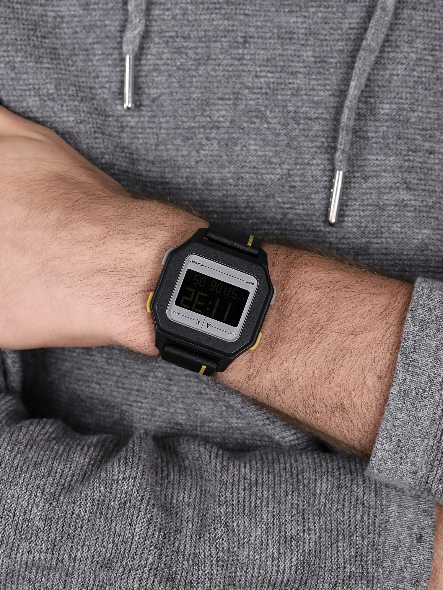 Armani Exchange AX2957 zegarek czarny sportowy Fashion pasek