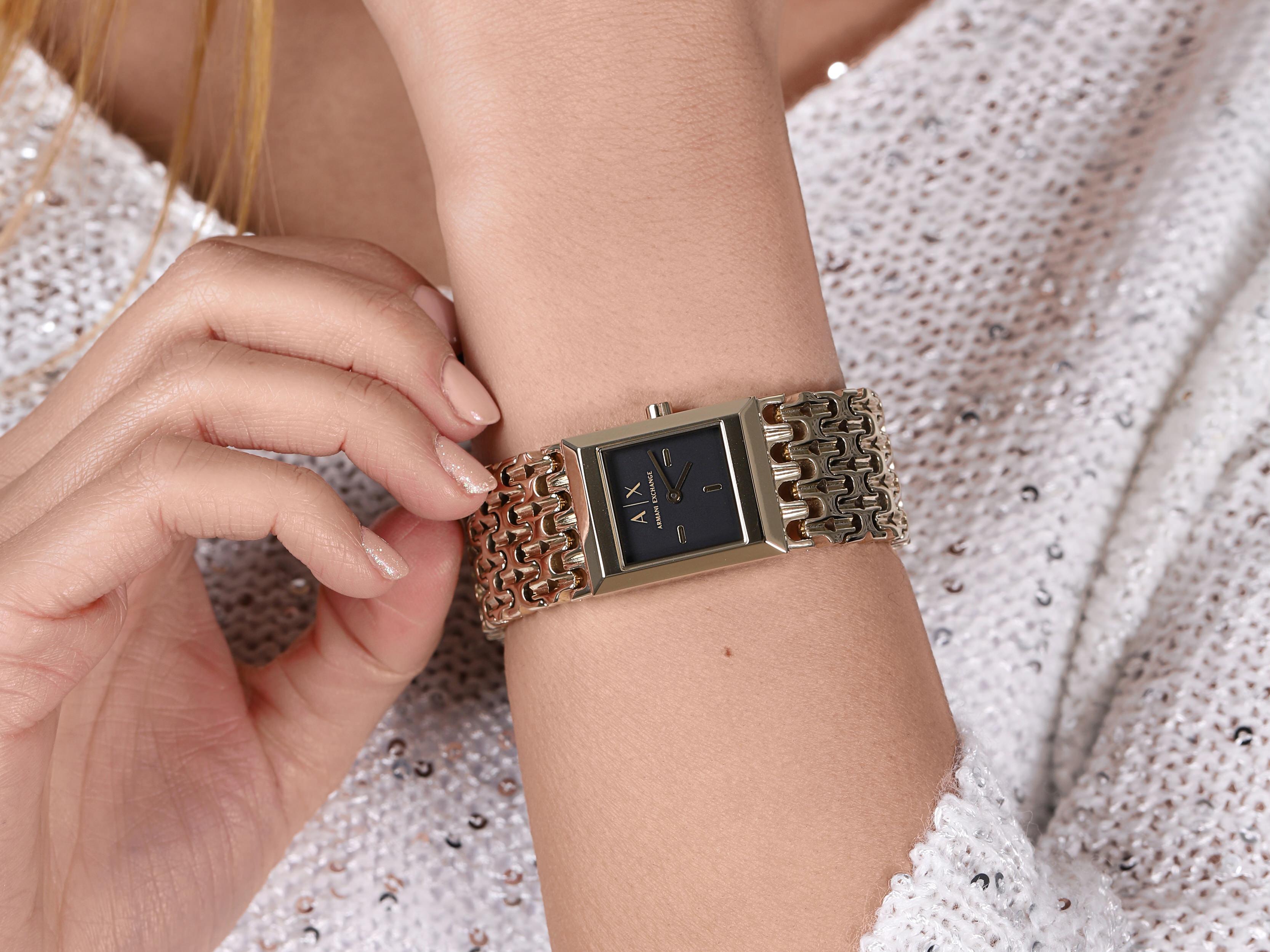 Armani Exchange AX5909 LOLA SQUARE zegarek fashion/modowy Fashion