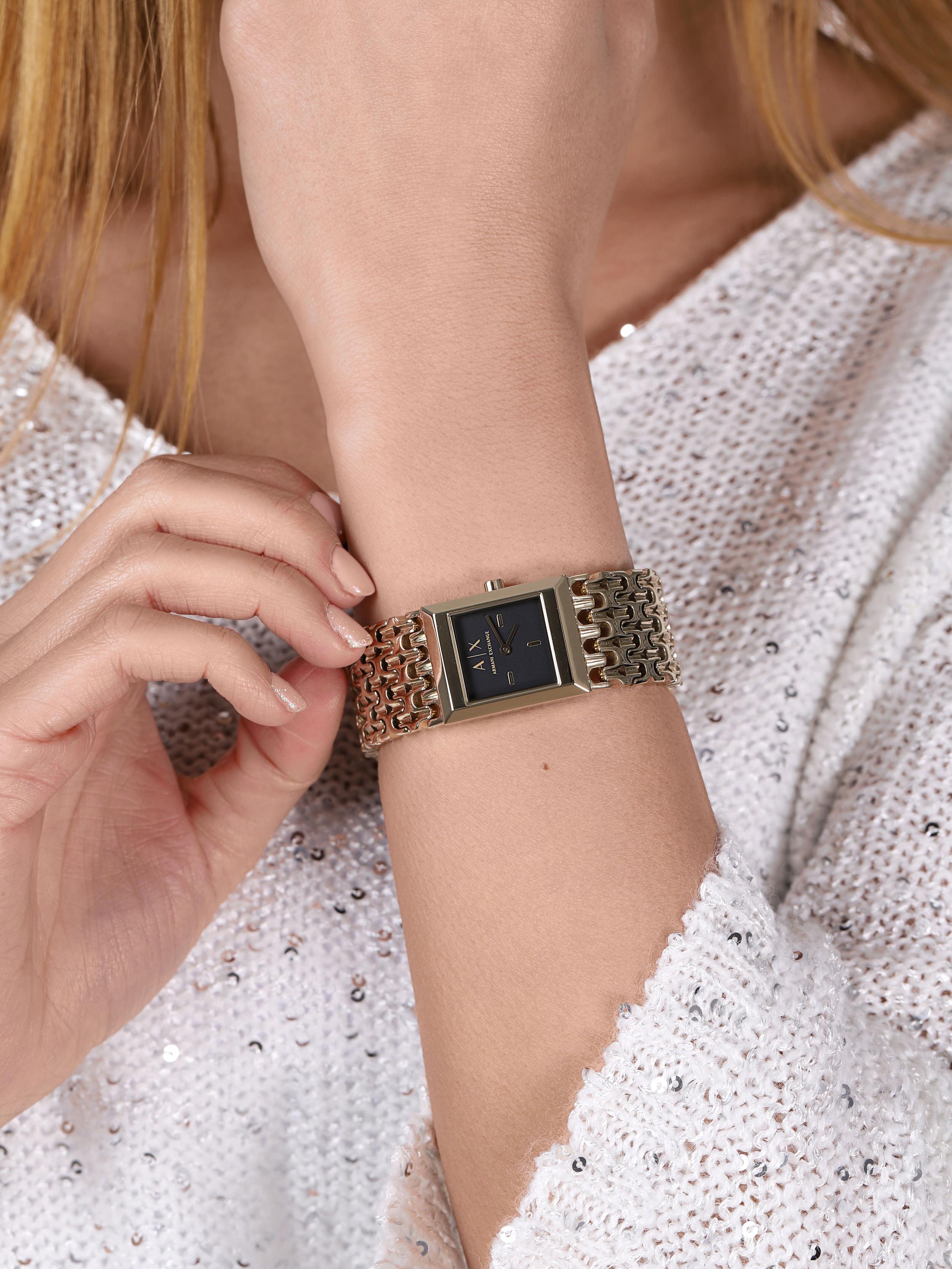 Armani Exchange AX5909 zegarek złoty fashion/modowy Fashion bransoleta