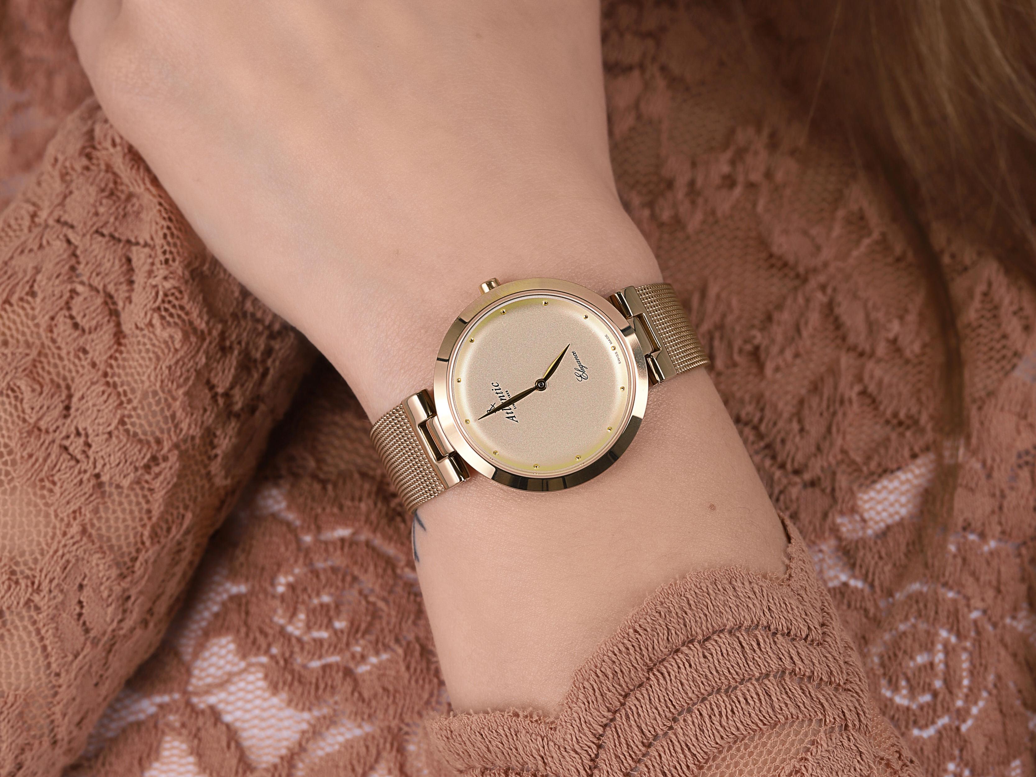 Atlantic 29036.45.31MB damski zegarek Elegance bransoleta