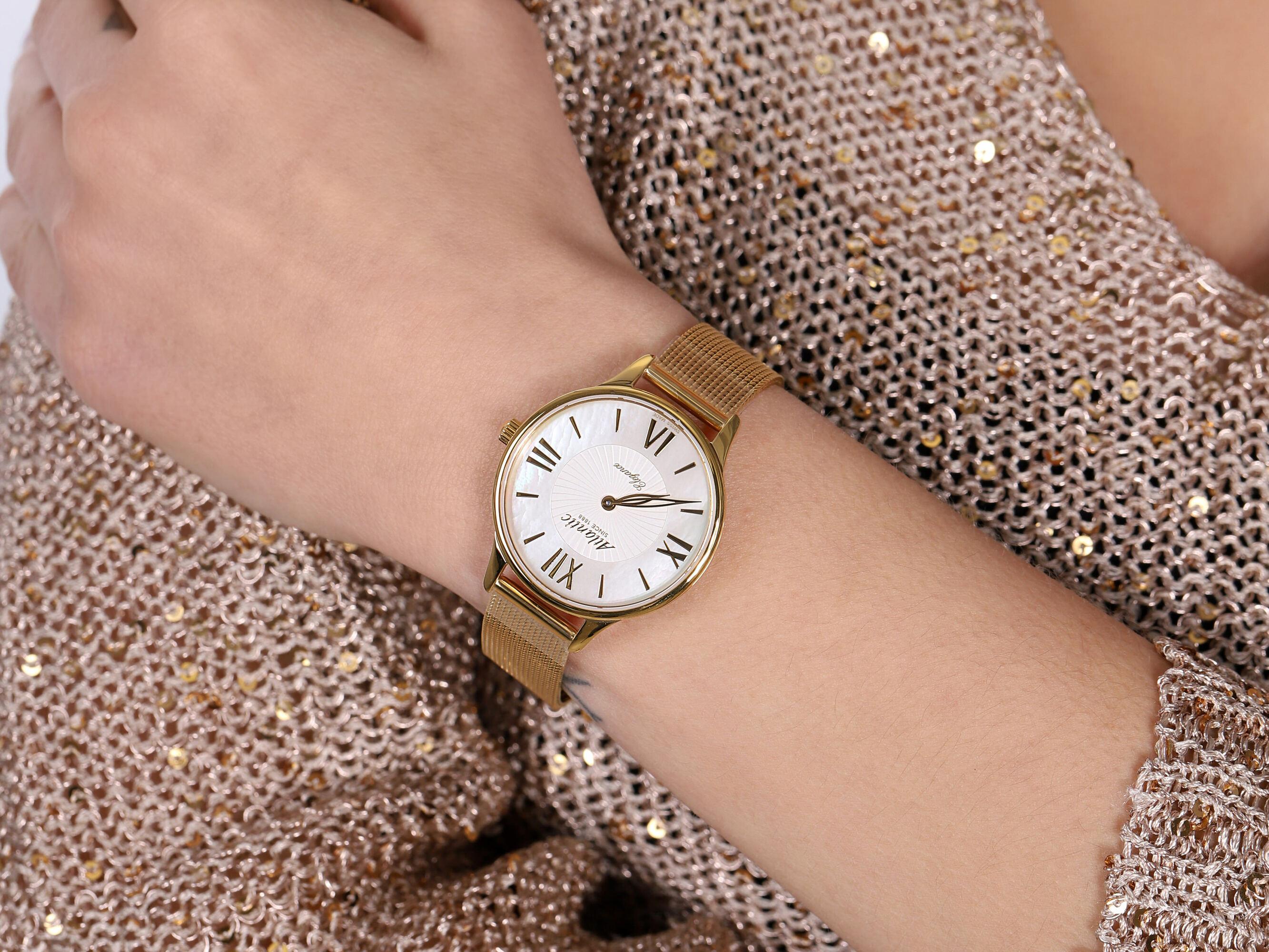 Atlantic 29038.45.08MB zegarek złoty klasyczny Elegance bransoleta