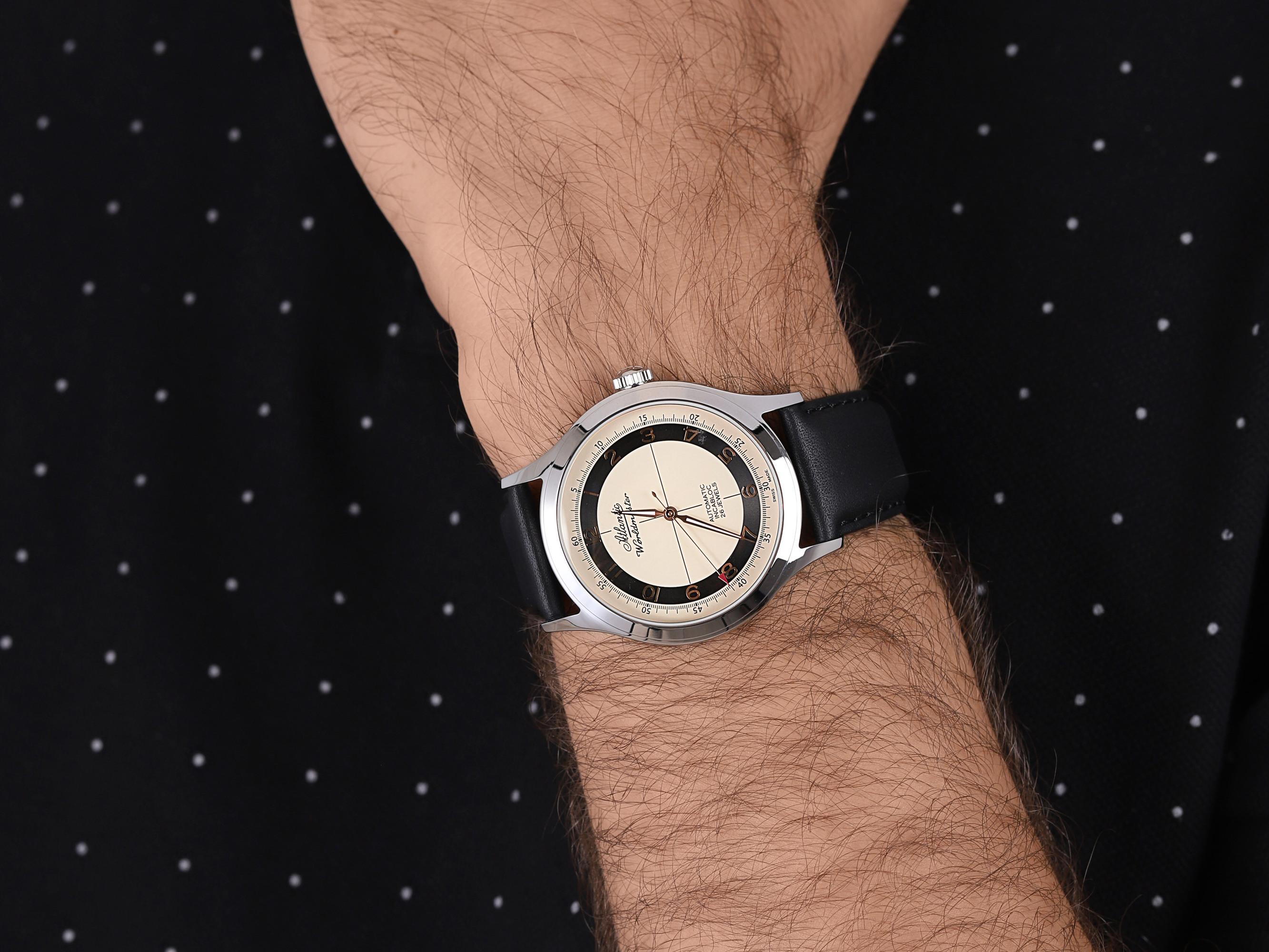 Atlantic 53754.41.93RBK męski zegarek Worldmaster pasek