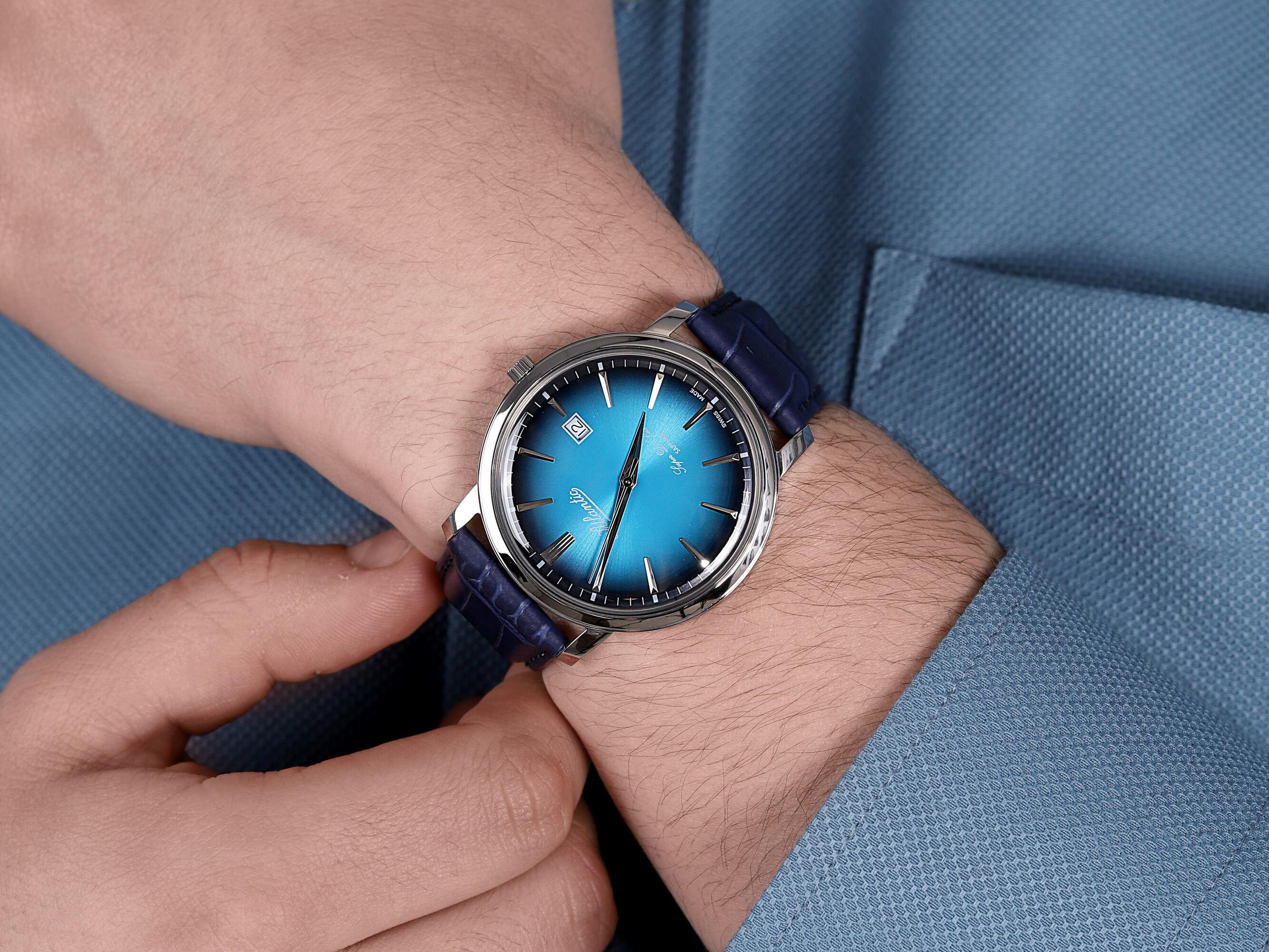 Atlantic 64351.41.51 męski zegarek Super De Luxe pasek