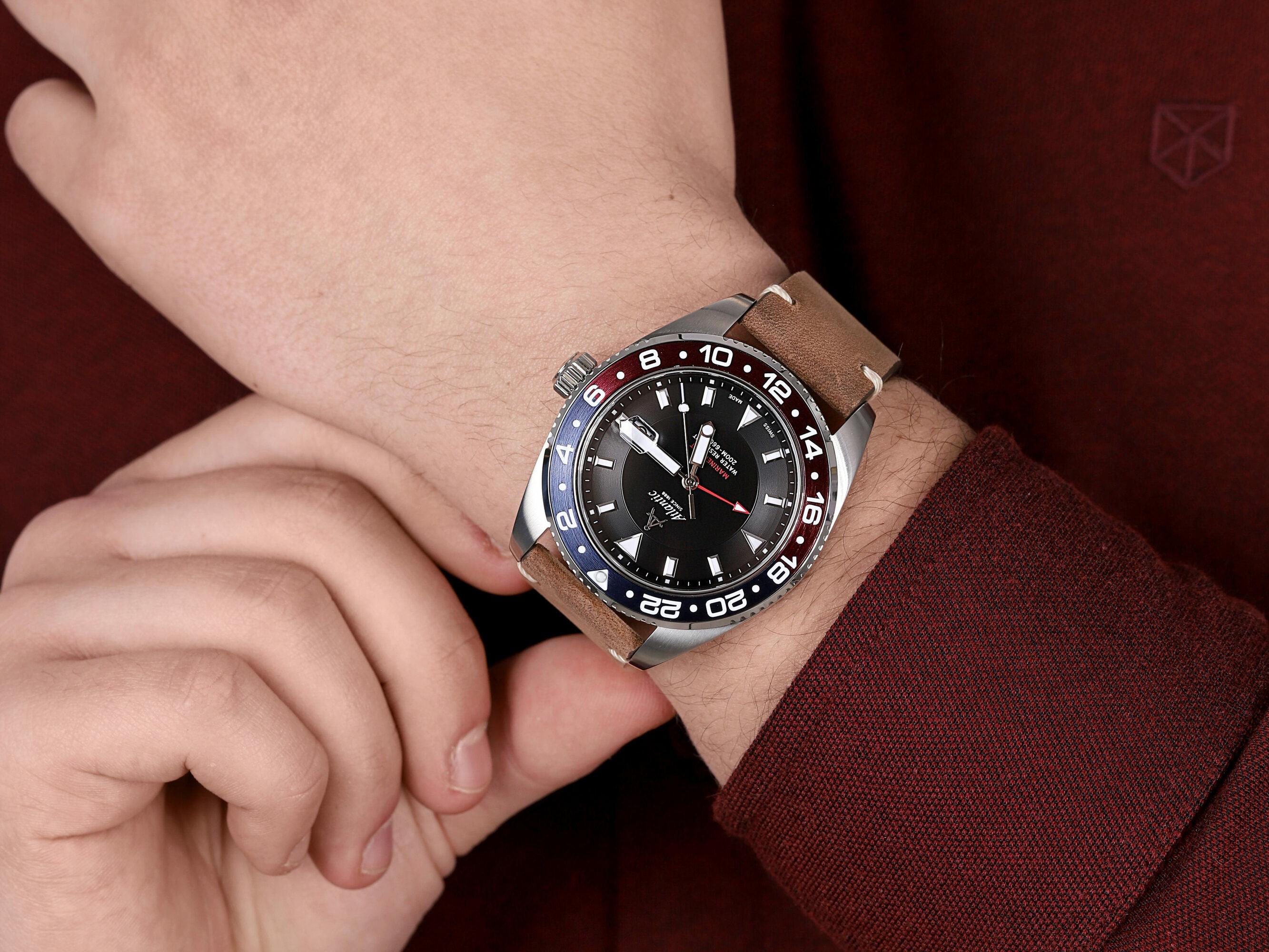 Atlantic 80570.41.61 męski zegarek Mariner pasek