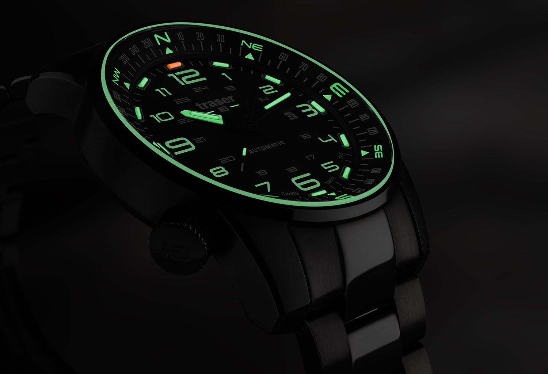 Traser TS-109522 P68 Pathfinder Automatic P68 Pathfinder Automatic Black zegarek męski sportowy szafirowe