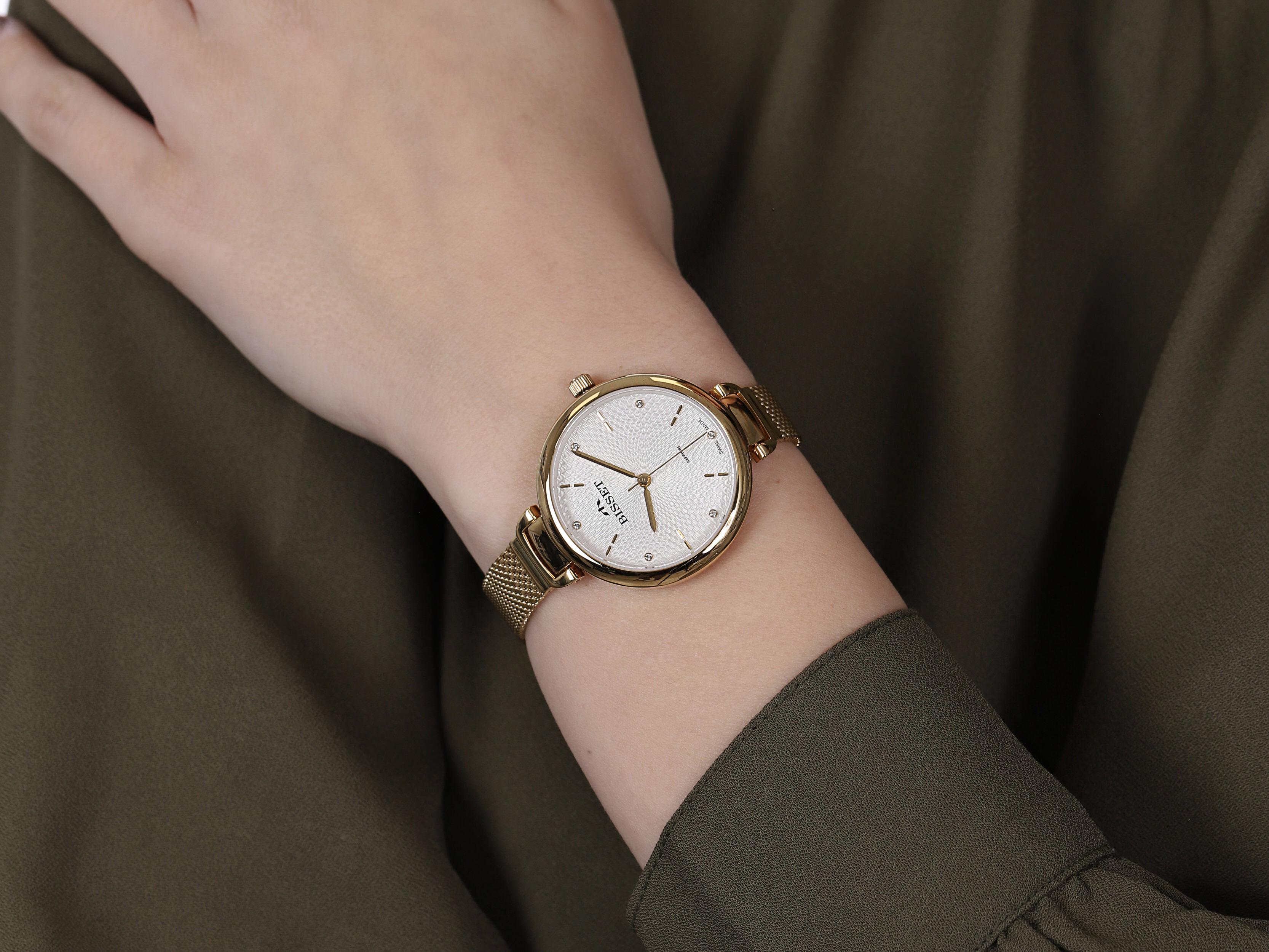 Bisset BSBF22GISX03BX damski zegarek Klasyczne bransoleta