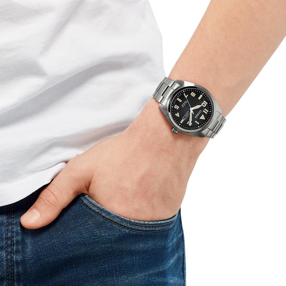 BM8560-88EE męski zegarek Titanium bransoleta