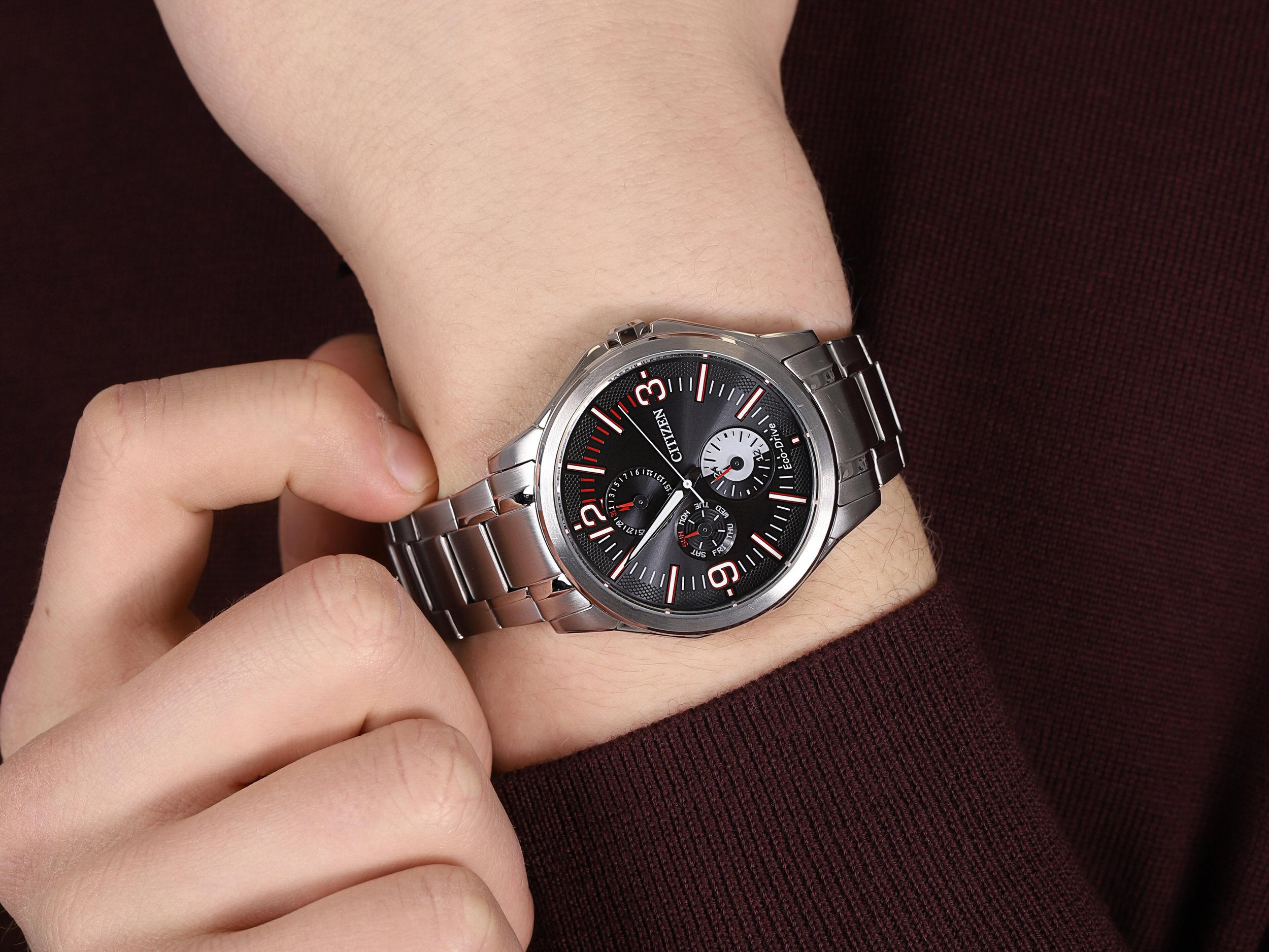 Citizen AP4000-58E męski zegarek Ecodrive bransoleta
