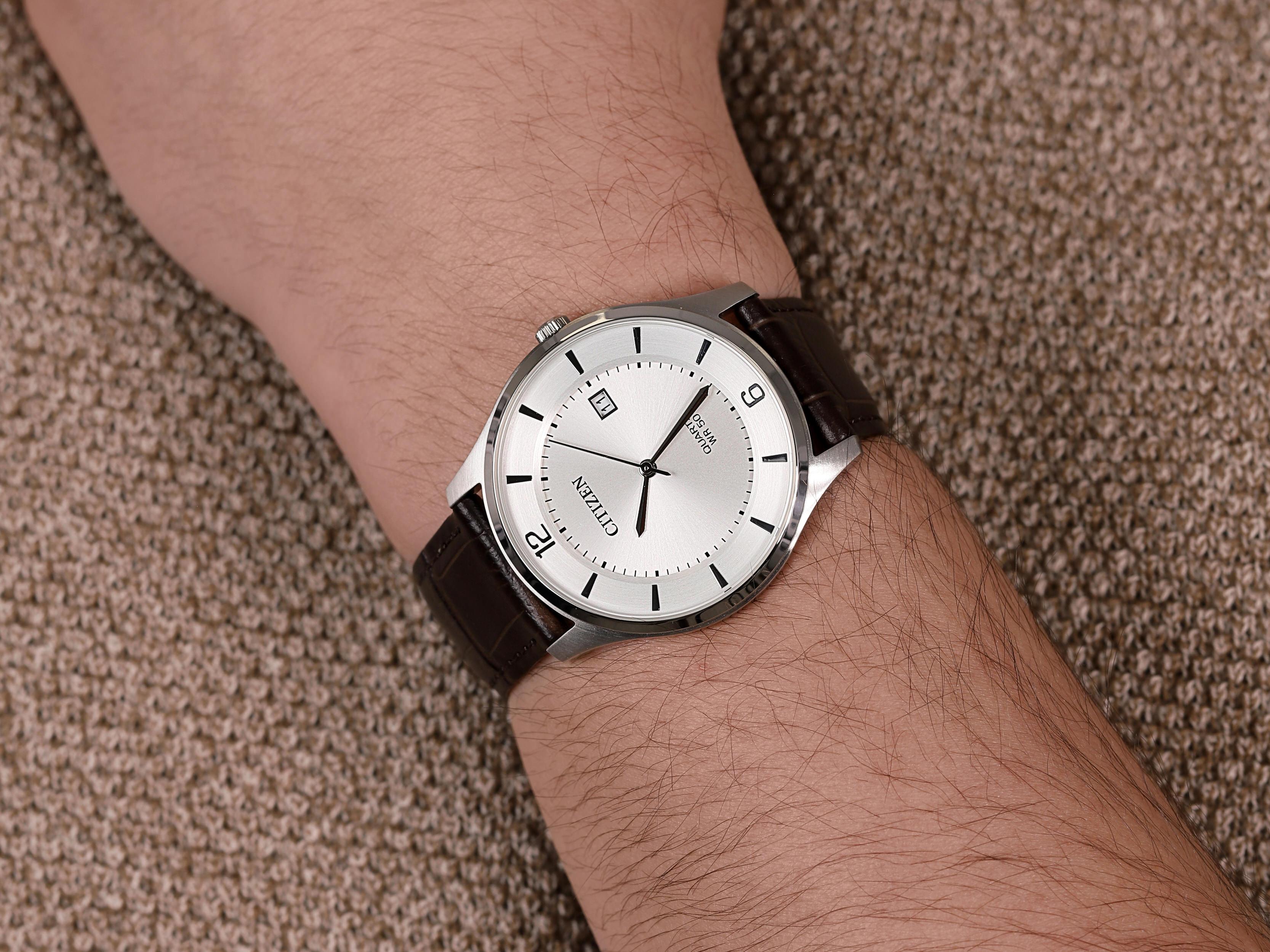 Citizen BD0041-11A zegarek męski Leather