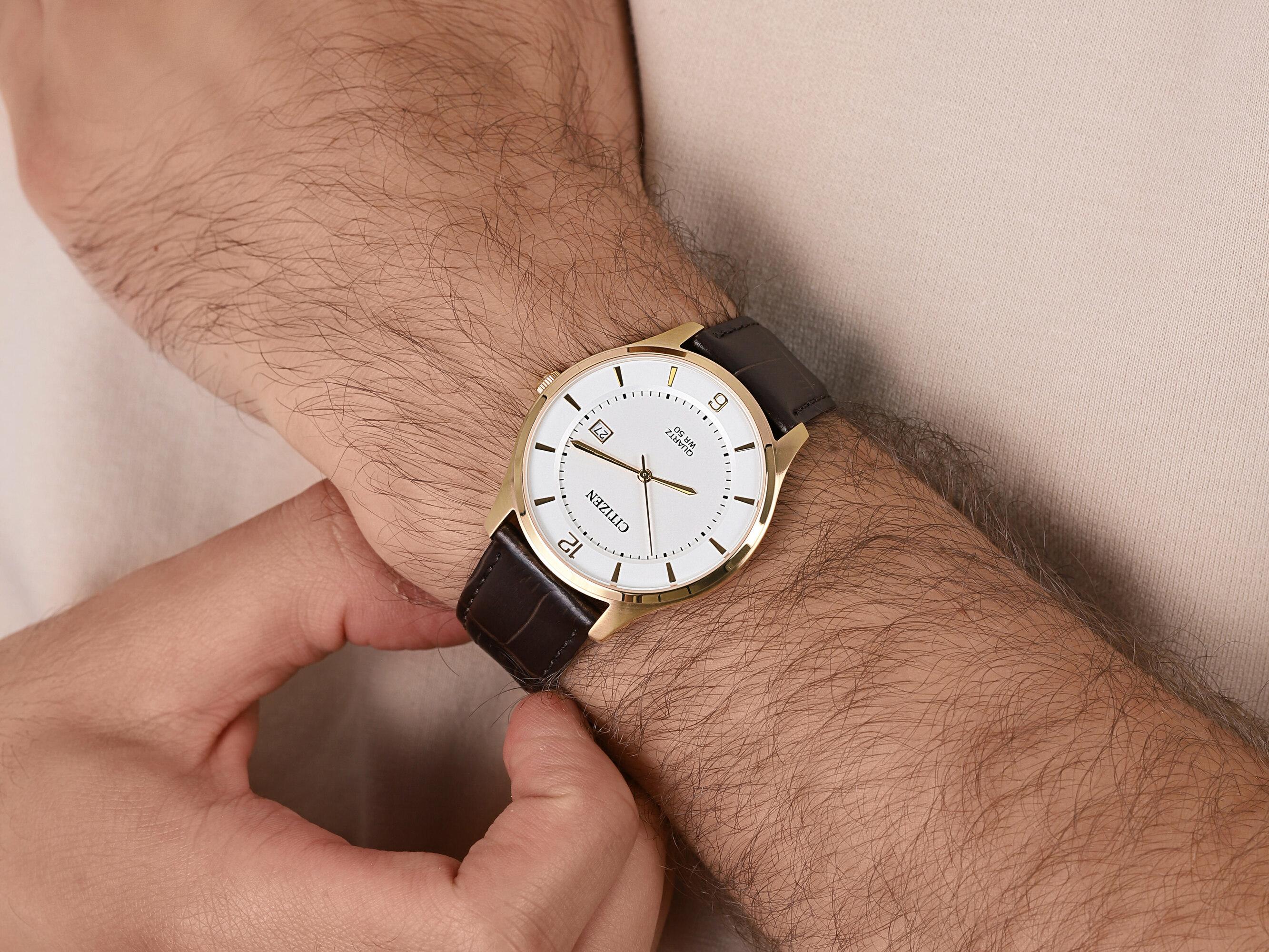 Citizen BD0043-08B męski zegarek Leather pasek