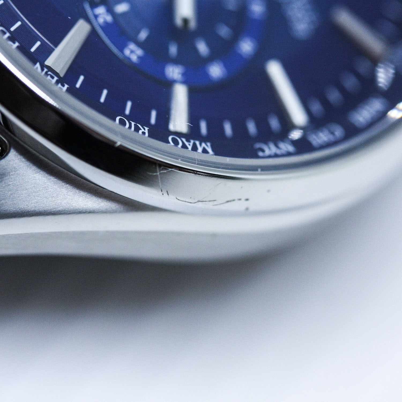 Citizen CB5020-87L-POWYSTAWOWY zegarek srebrny sportowy Radio Controlled bransoleta
