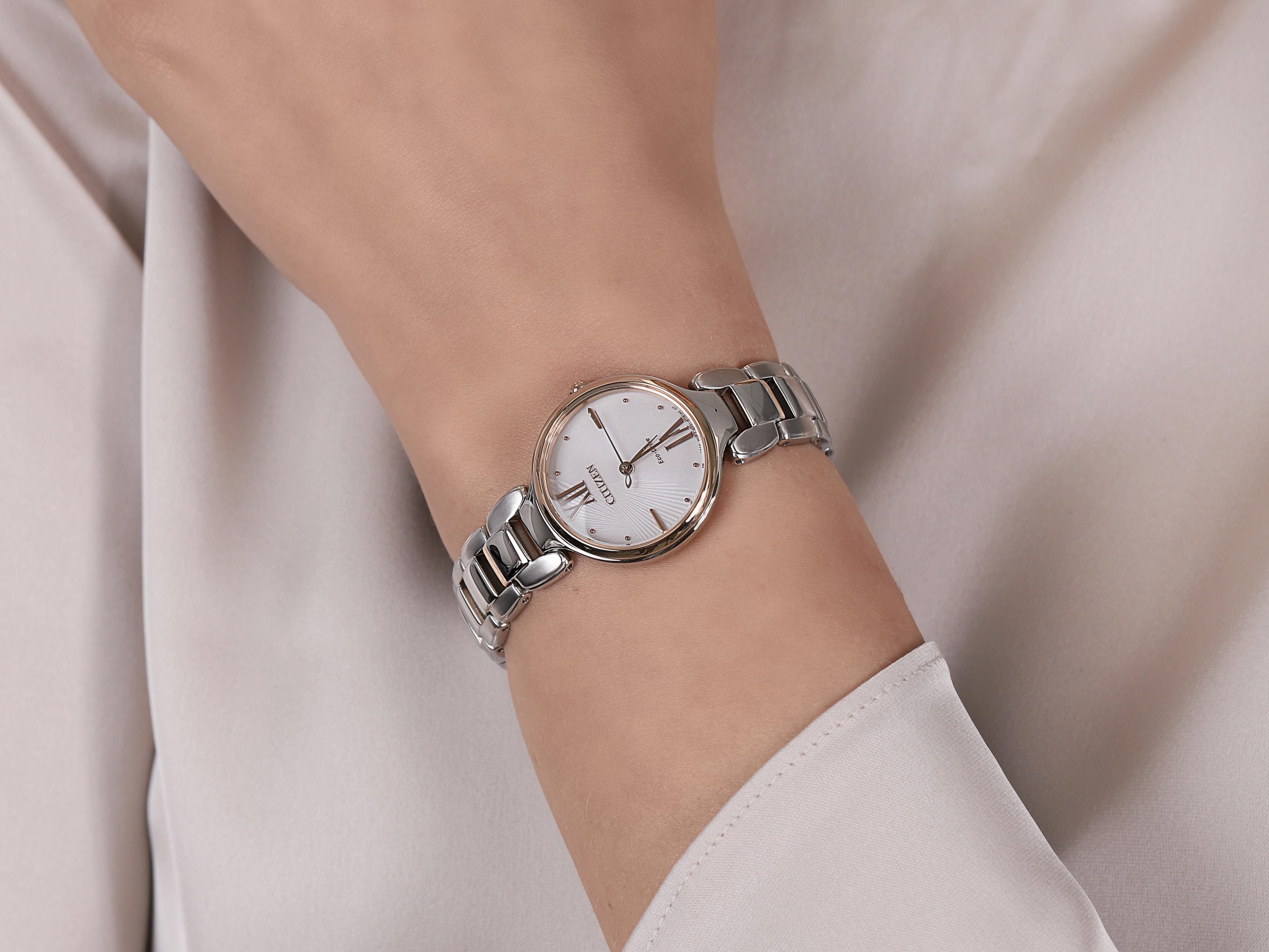 Citizen EM0024-51W damski zegarek Elegance bransoleta