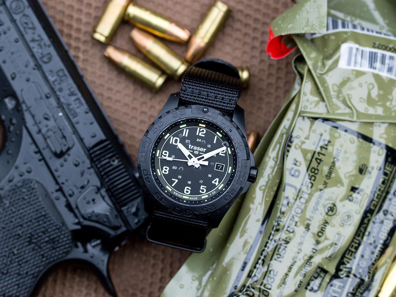 Traser TS-108673 P96 Outdoor Pioneer P96 OdP Evolution Black zegarek męski klasyczny szafirowe