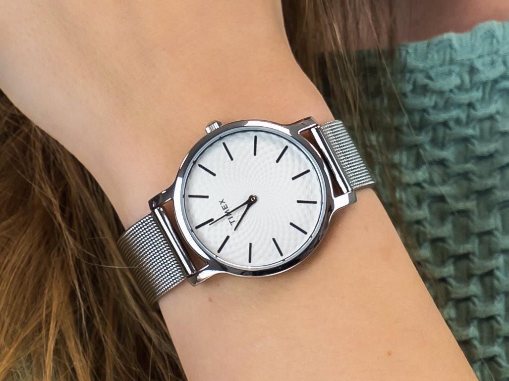zegarek Timex TW2R36200 srebrny Metropolitan