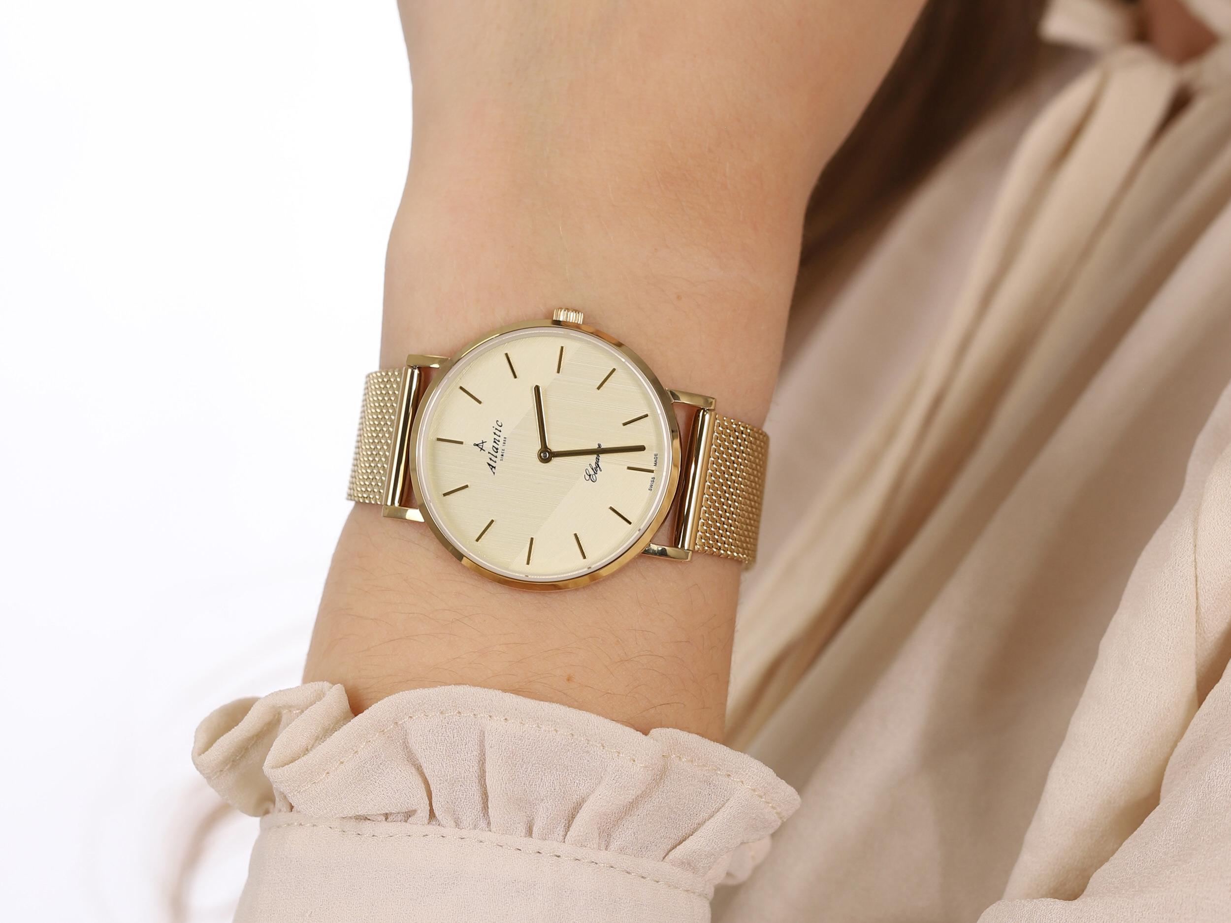 Atlantic 29043.45.31MB zegarek klasyczny Elegance