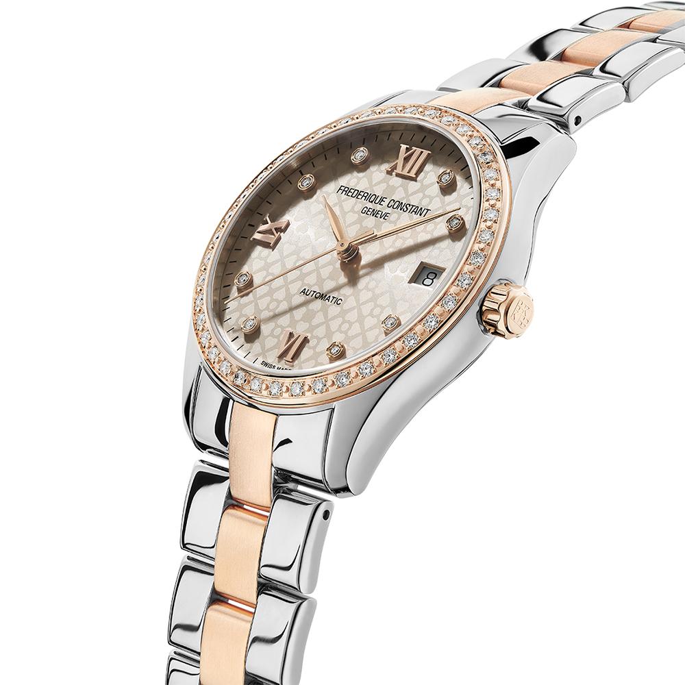 Frederique Constant FC-303LGD3BD2B zegarek srebrny klasyczny Ladies Automatic bransoleta