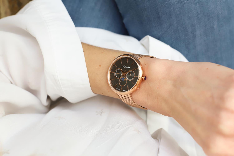 zegarek Adriatica A3732.9116QF kwarcowy damski Bransoleta Moonphase