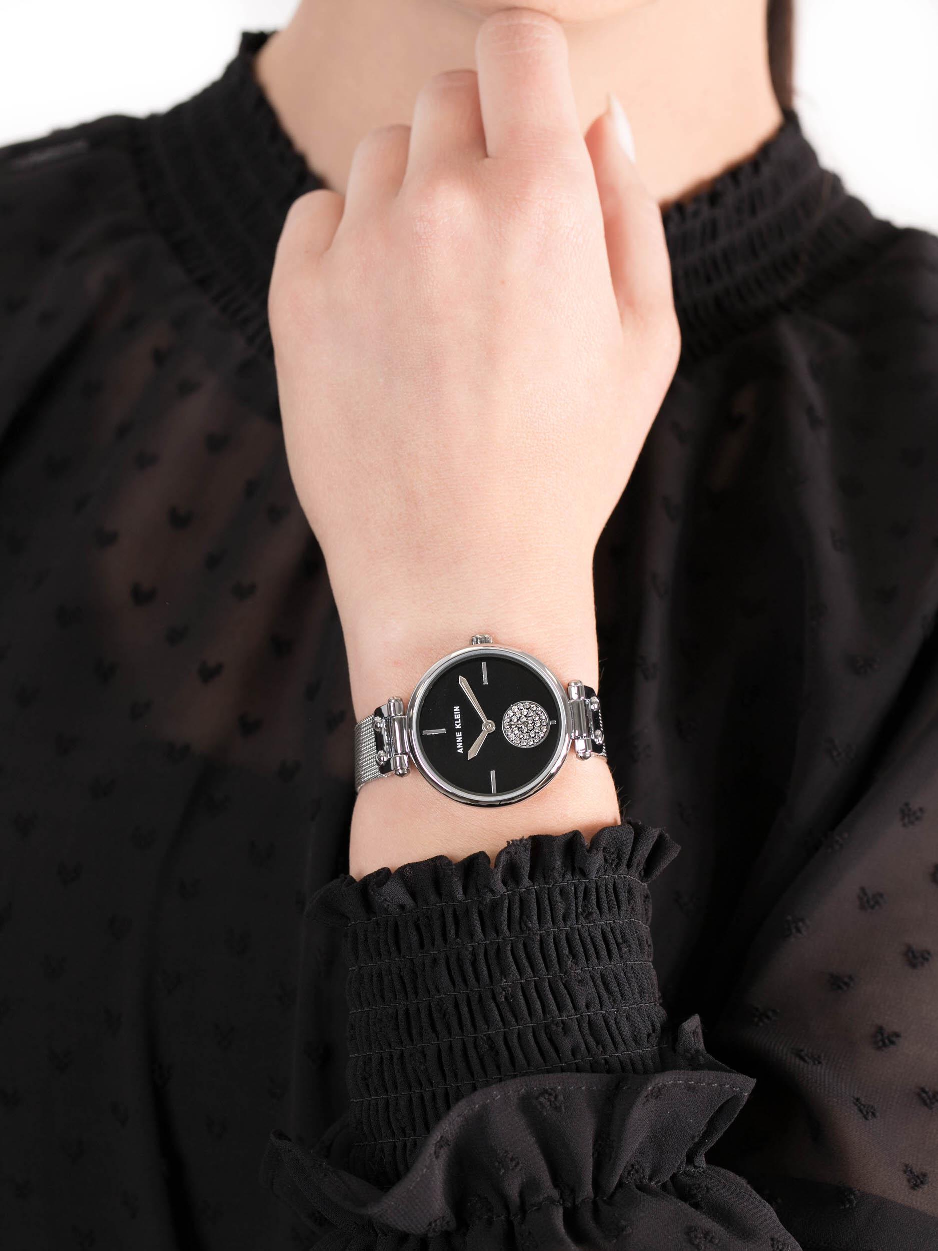 Anne Klein AK-3001BKSV damski zegarek Bransoleta bransoleta