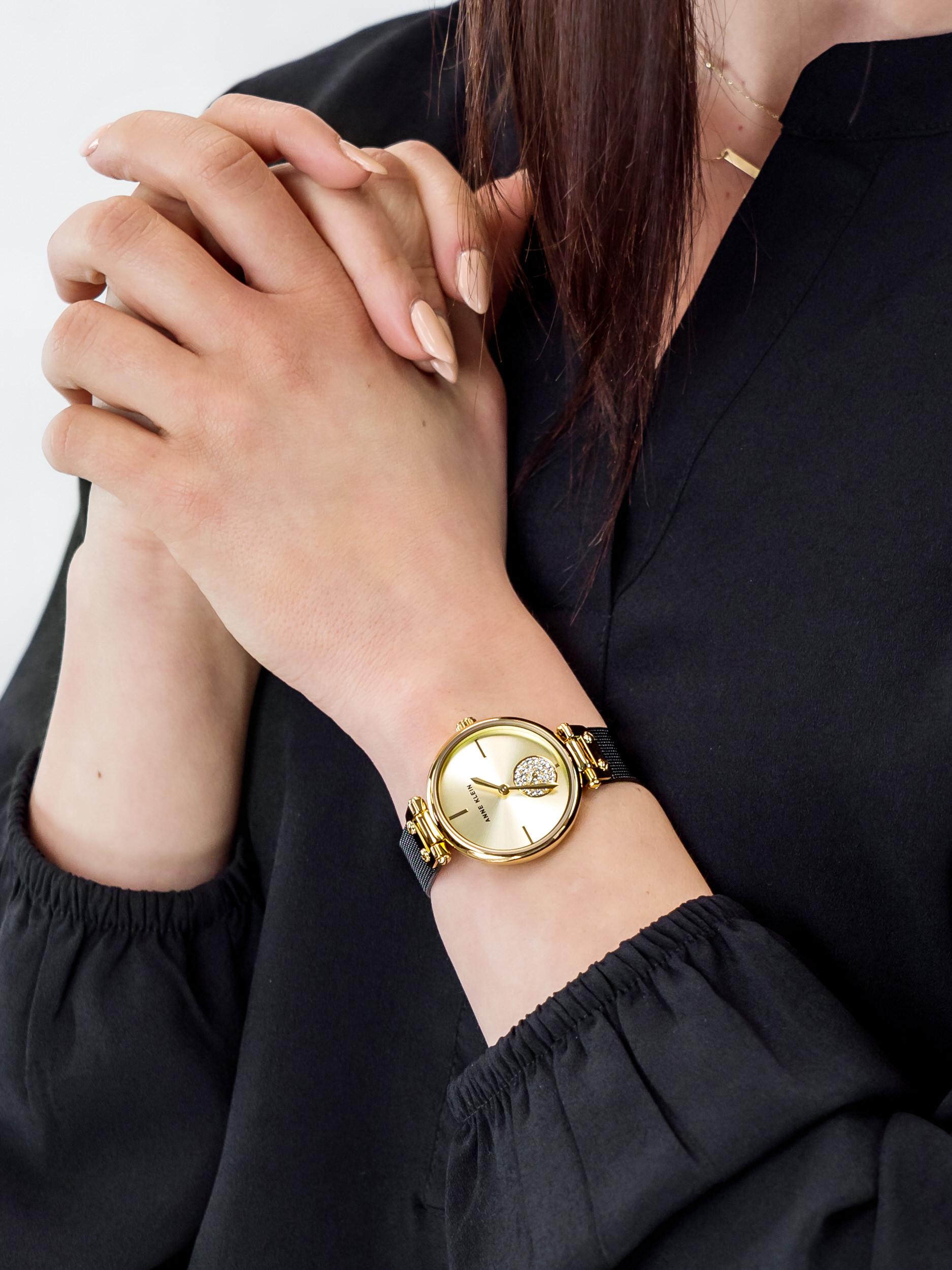 Anne Klein AK-3001CHBK damski zegarek Bransoleta bransoleta