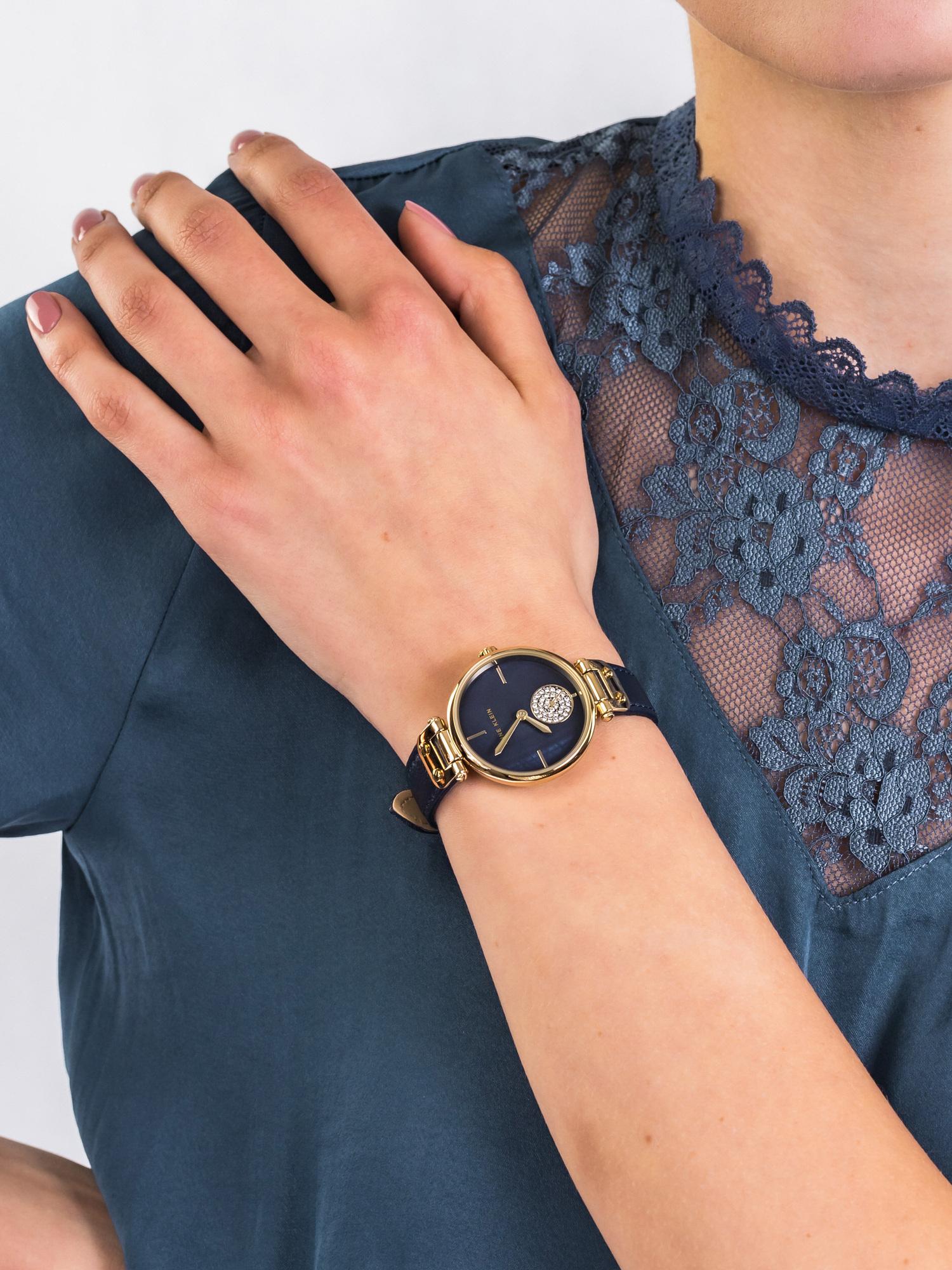 Anne Klein AK-3380NMNV damski zegarek Pasek pasek