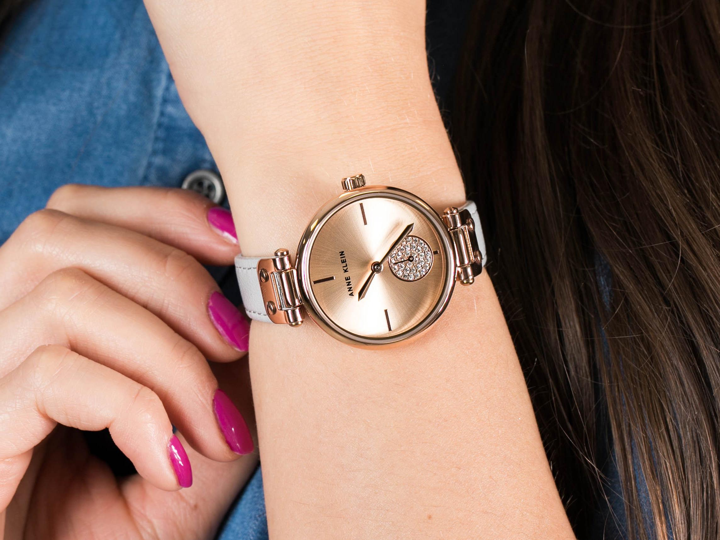 Anne Klein AK-3380RGLG zegarek fashion/modowy Pasek