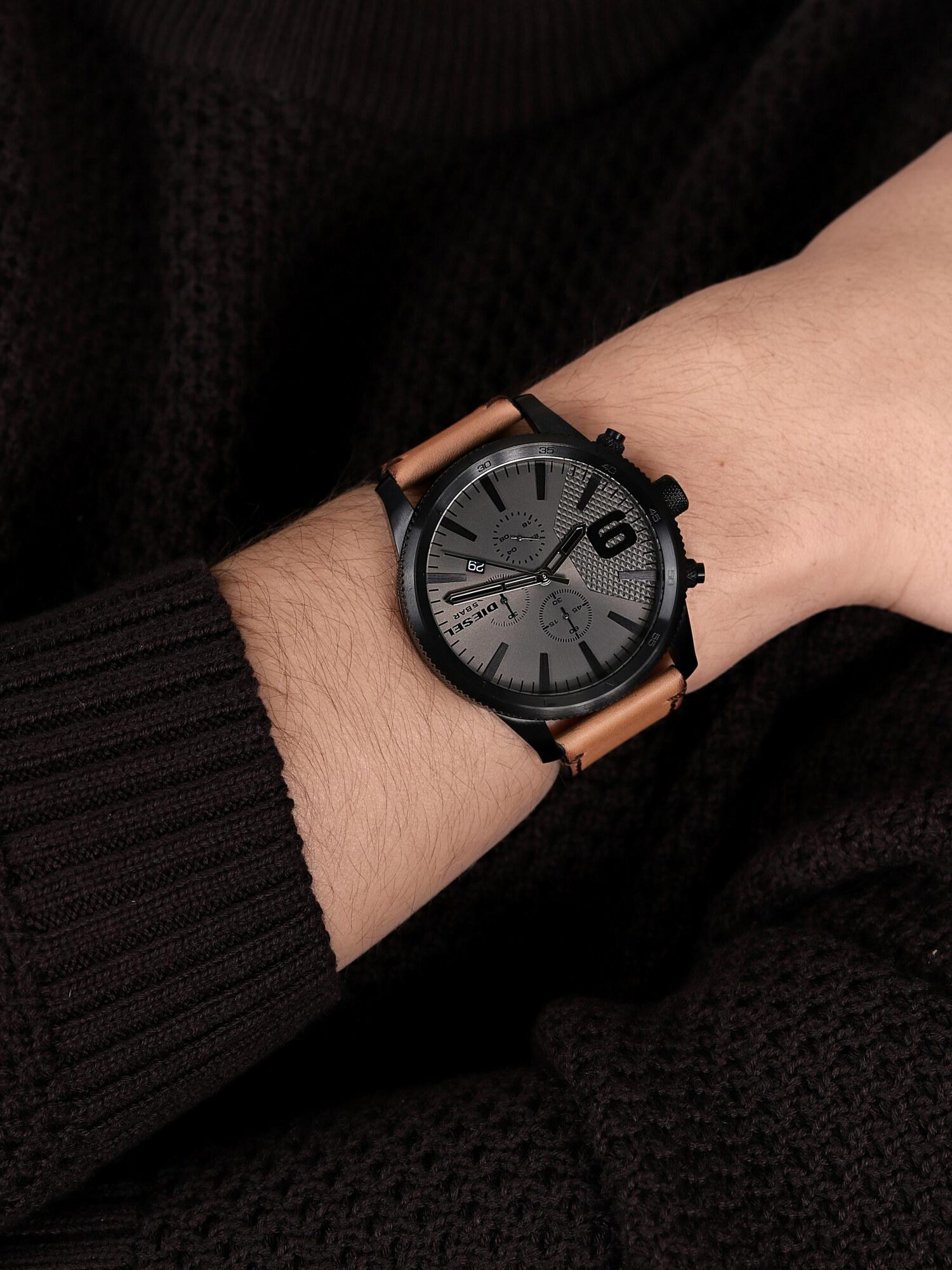 Diesel DZ4468 zegarek czarny klasyczny Rasp pasek