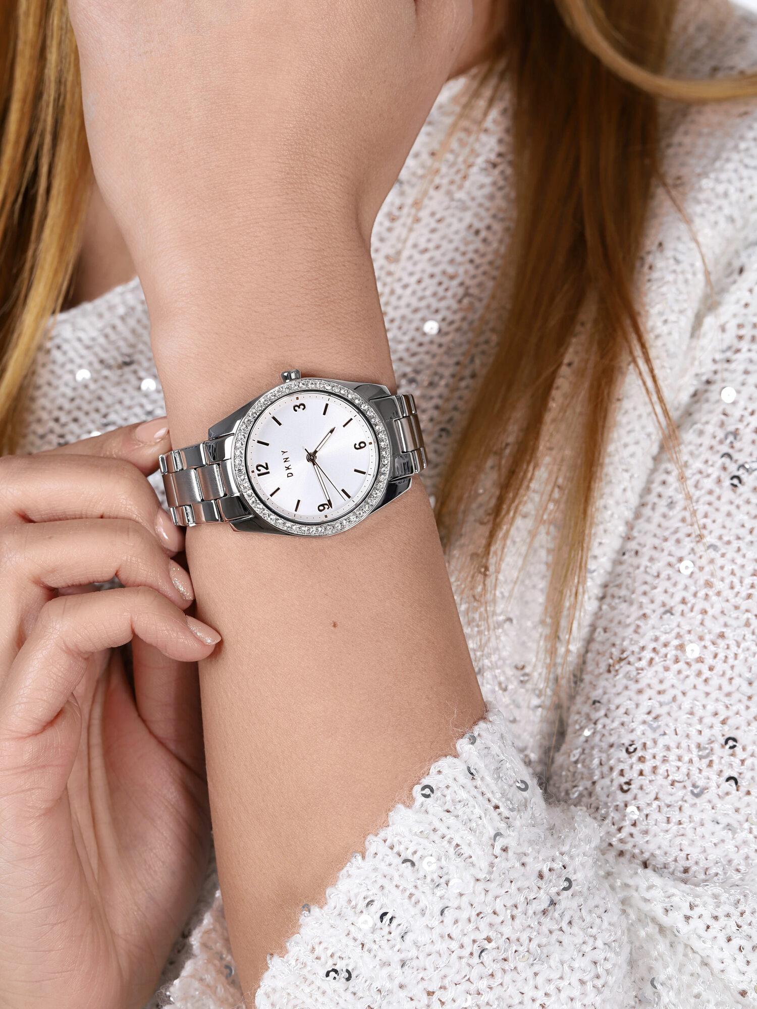 DKNY NY2901 zegarek srebrny klasyczny Bransoleta bransoleta
