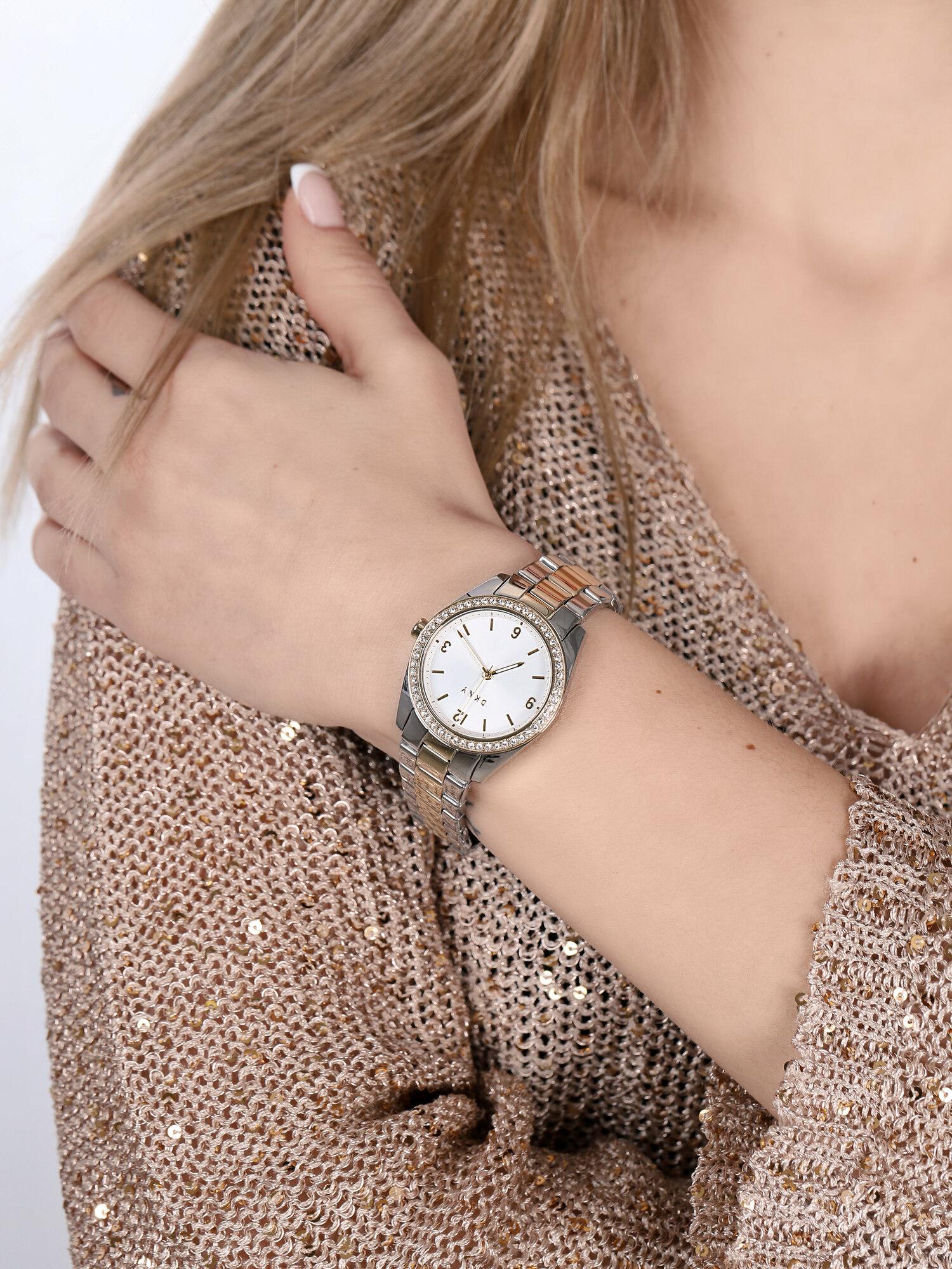 DKNY NY2903 zegarek srebrny klasyczny Bransoleta bransoleta
