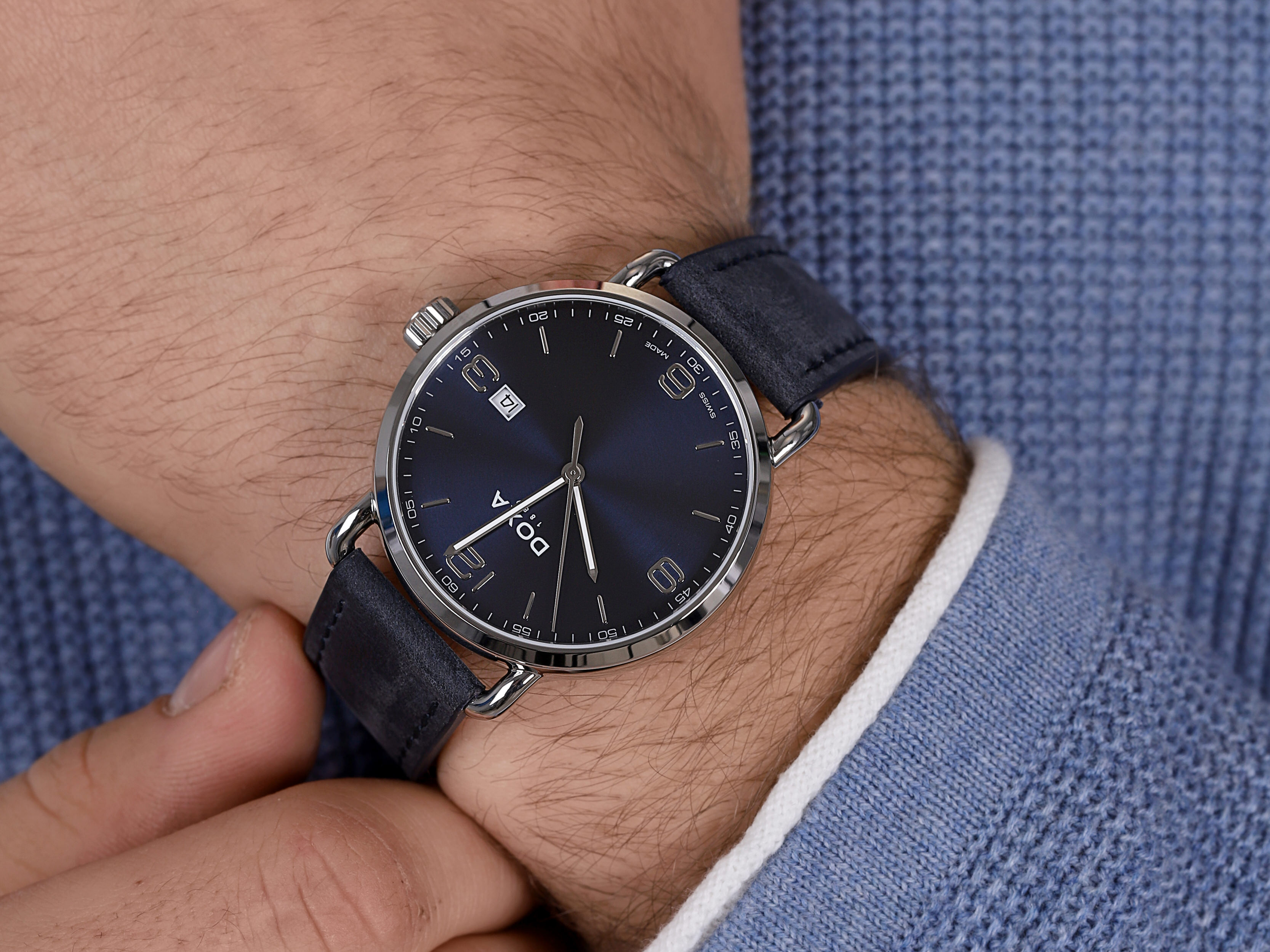 Doxa 180.10.203.03 męski zegarek D-Concept pasek