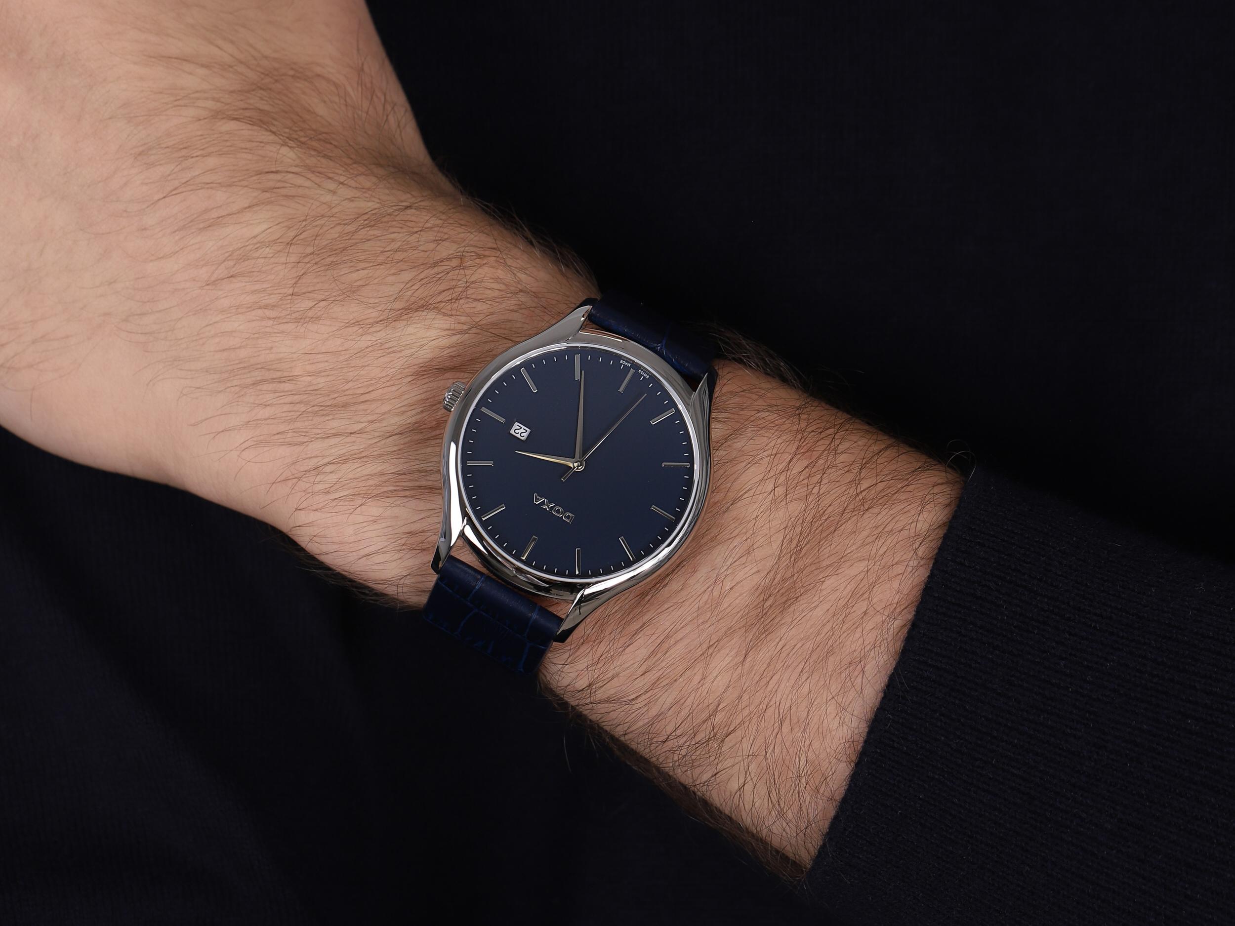 Doxa 215.10.201.03 męski zegarek Challenge pasek