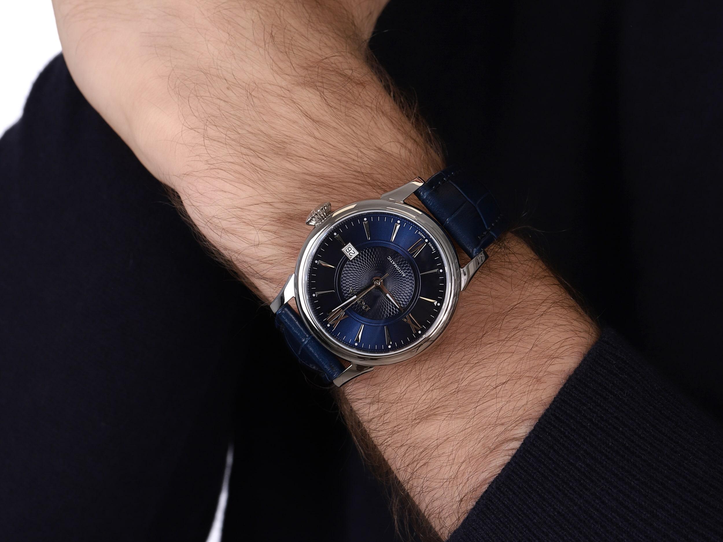 Doxa 624.10.202.2.03 męski zegarek Vintage pasek