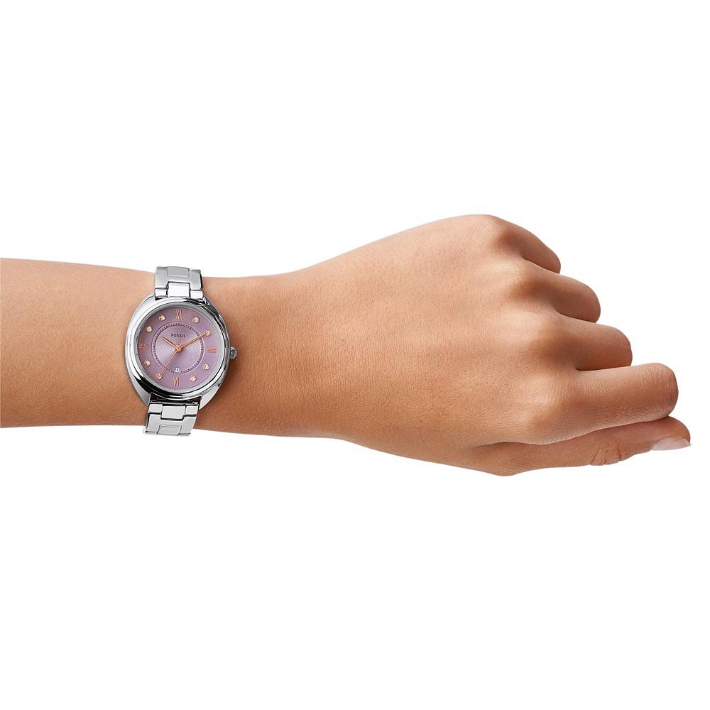 ES5103 zegarek różowe złoto fashion/modowy Gabby pasek