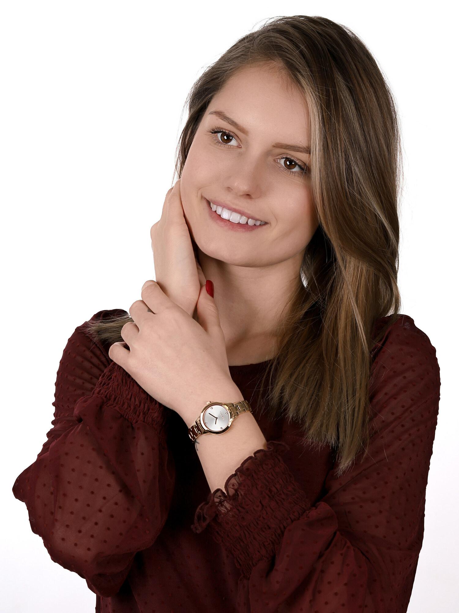 Esprit ES108992002 zegarek różowe złoto fashion/modowy Damskie bransoleta