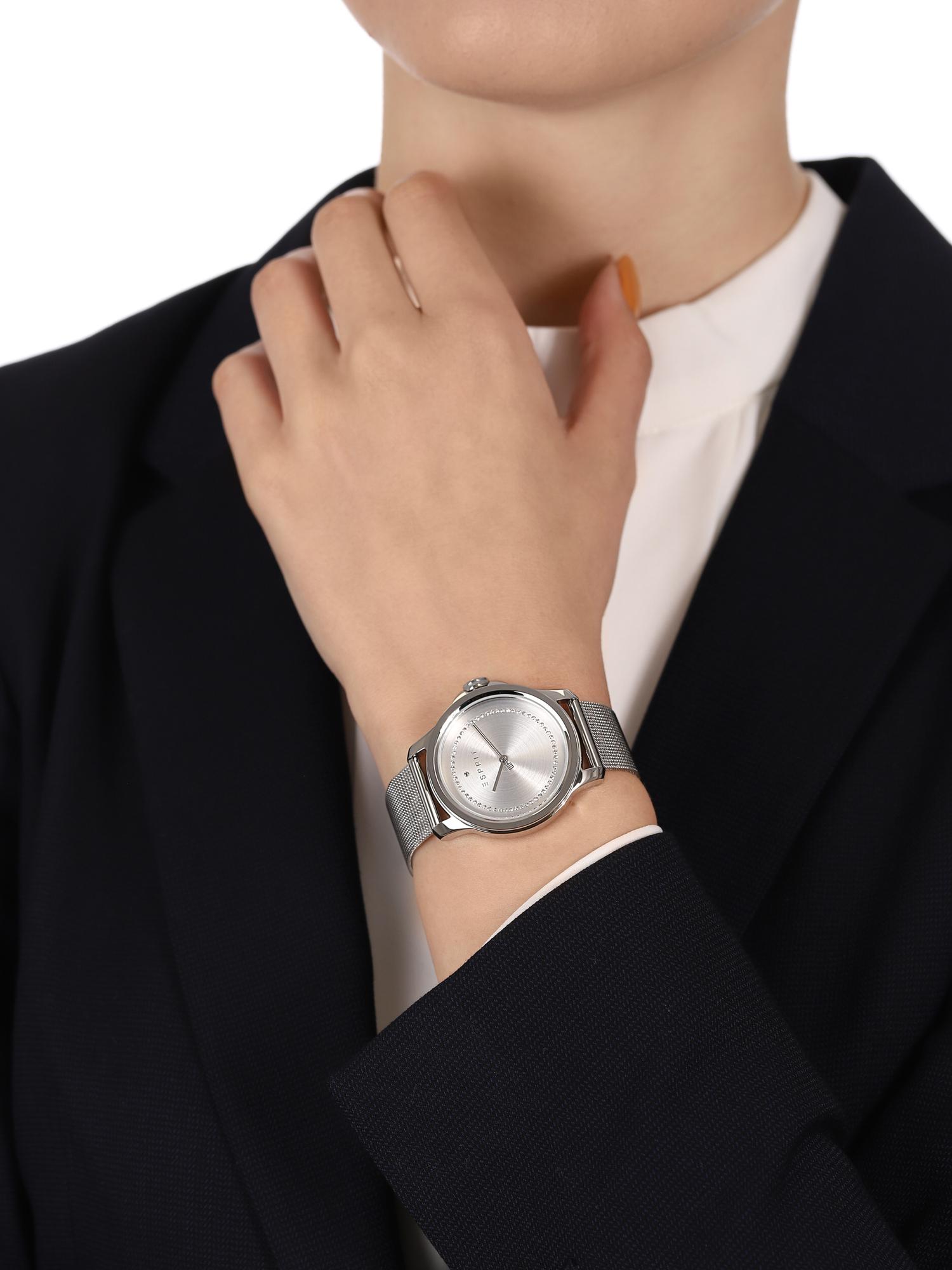 Esprit ES1L147M0055 zegarek srebrny klasyczny Damskie bransoleta