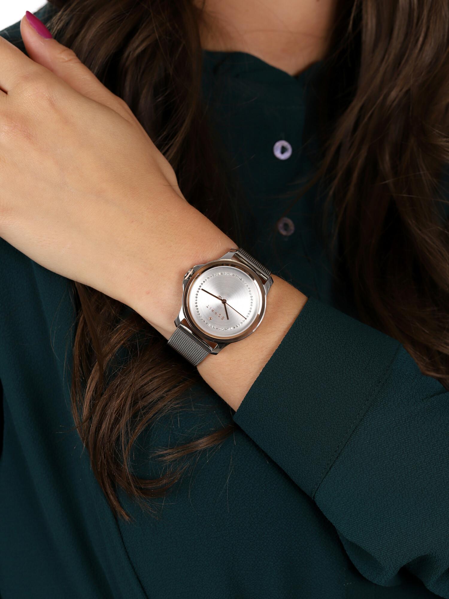 Esprit ES1L147M0115 zegarek srebrny klasyczny Damskie bransoleta