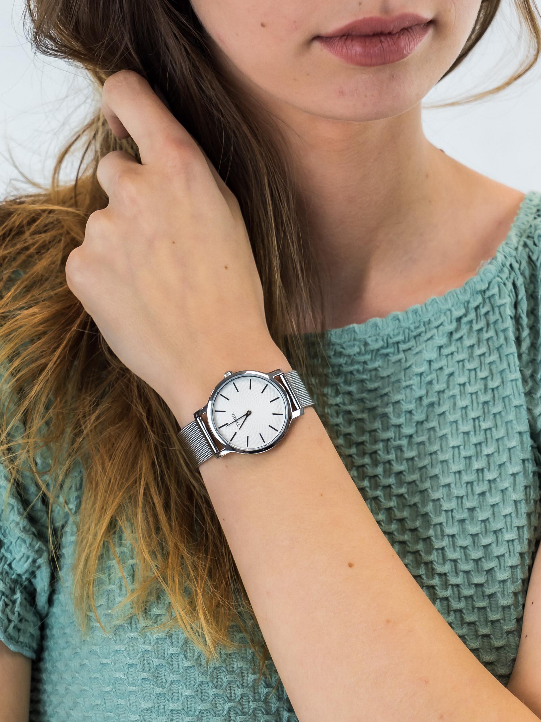 Timex TW2R36200 damski zegarek Metropolitan bransoleta