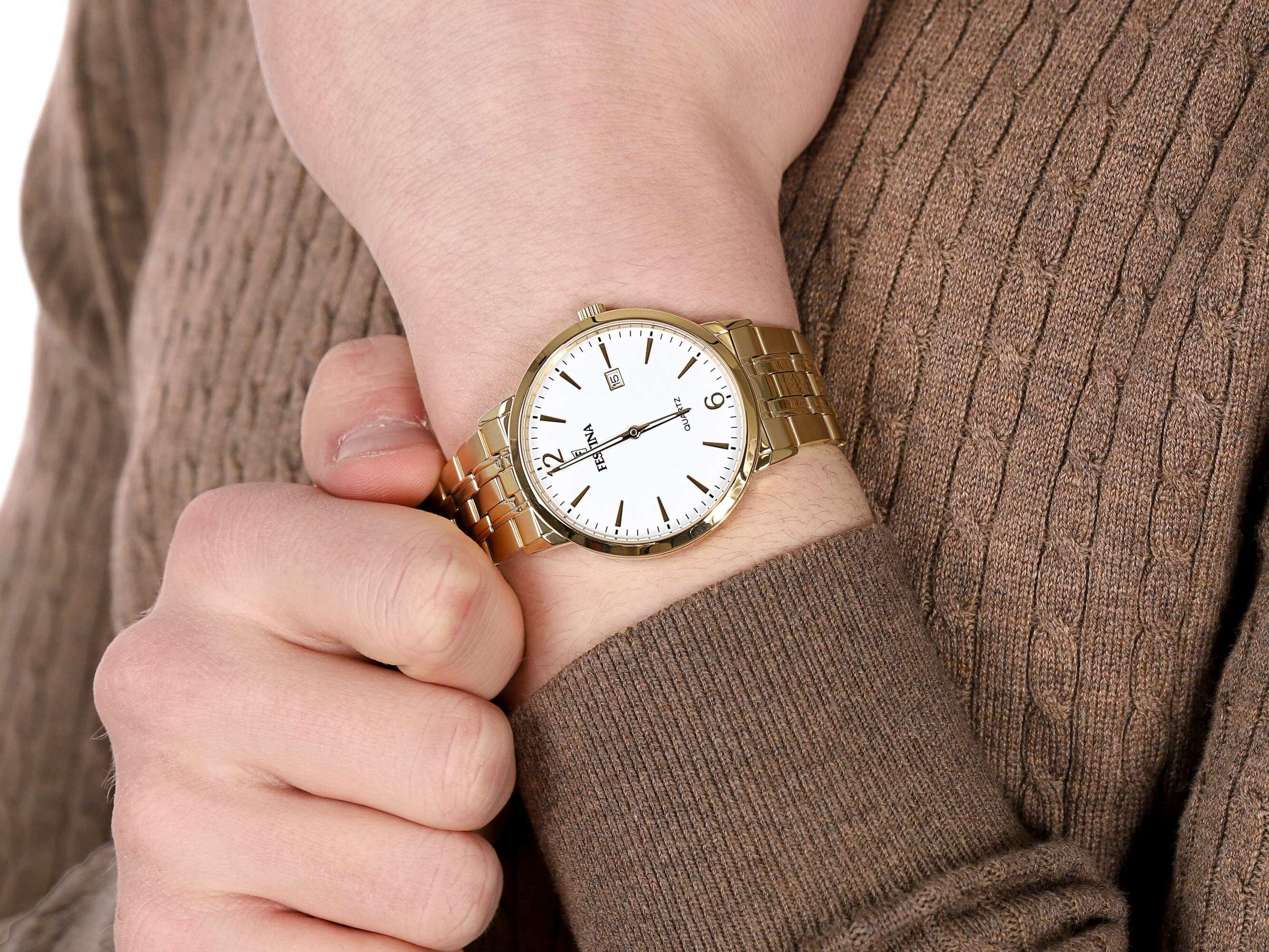 Festina F20513-2 męski zegarek Classic bransoleta