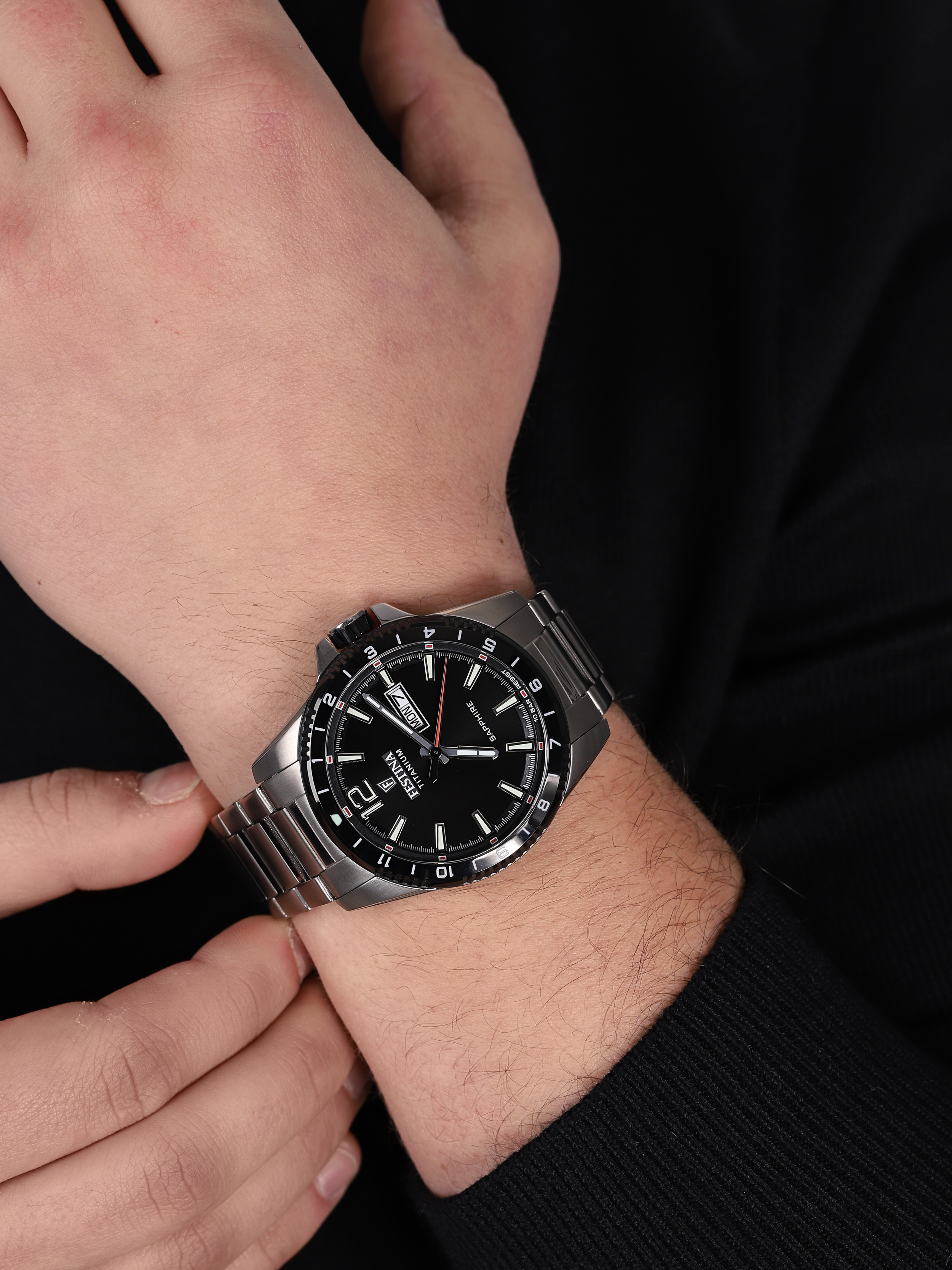 Festina F20529-4 Titanium Sport Sapphire zegarek klasyczny Titanium