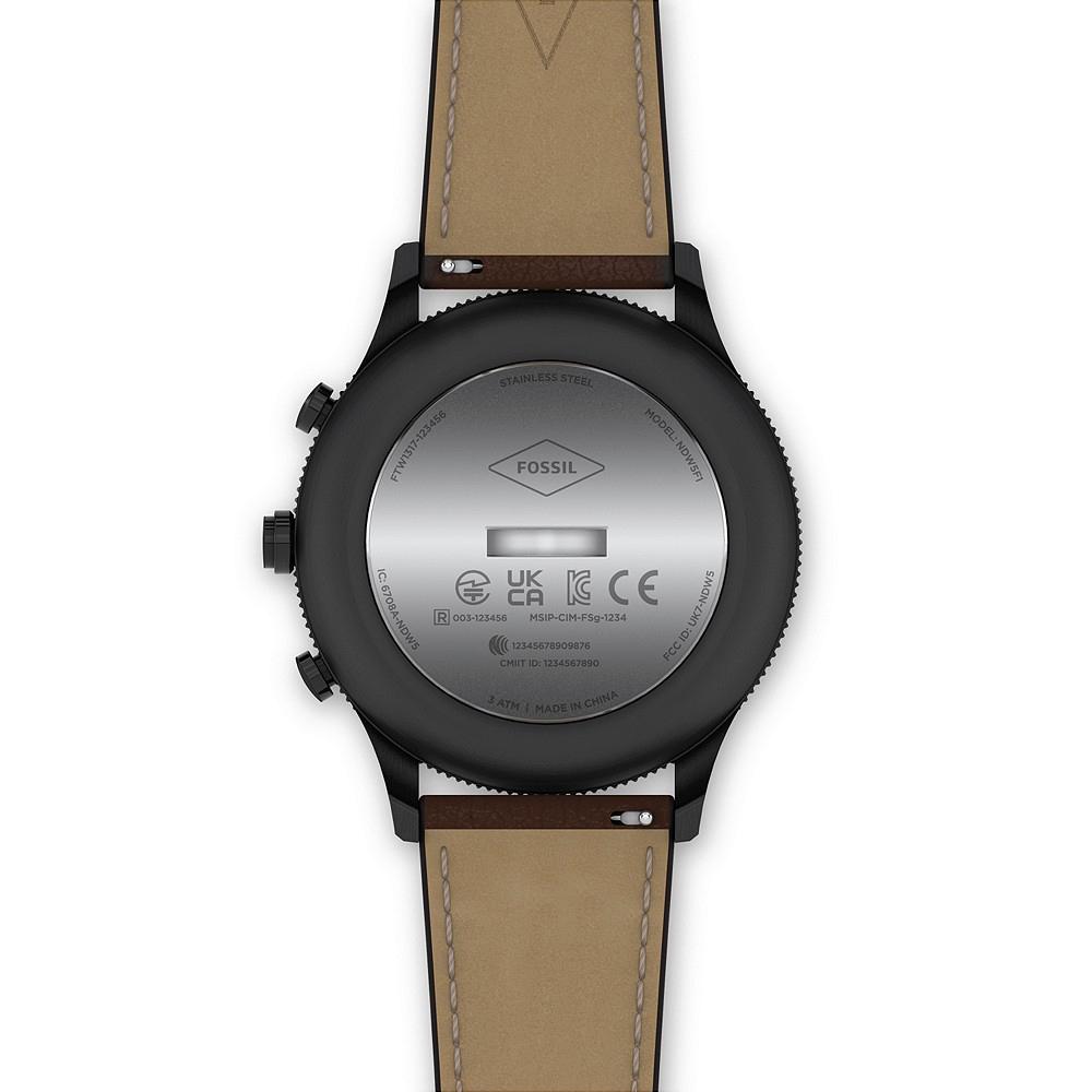Fossil FTW1317 HYBRID SMARTWATCH RETRO PILOT DUAL TIME smartwatch klasyczny Hybrid Smartwatch