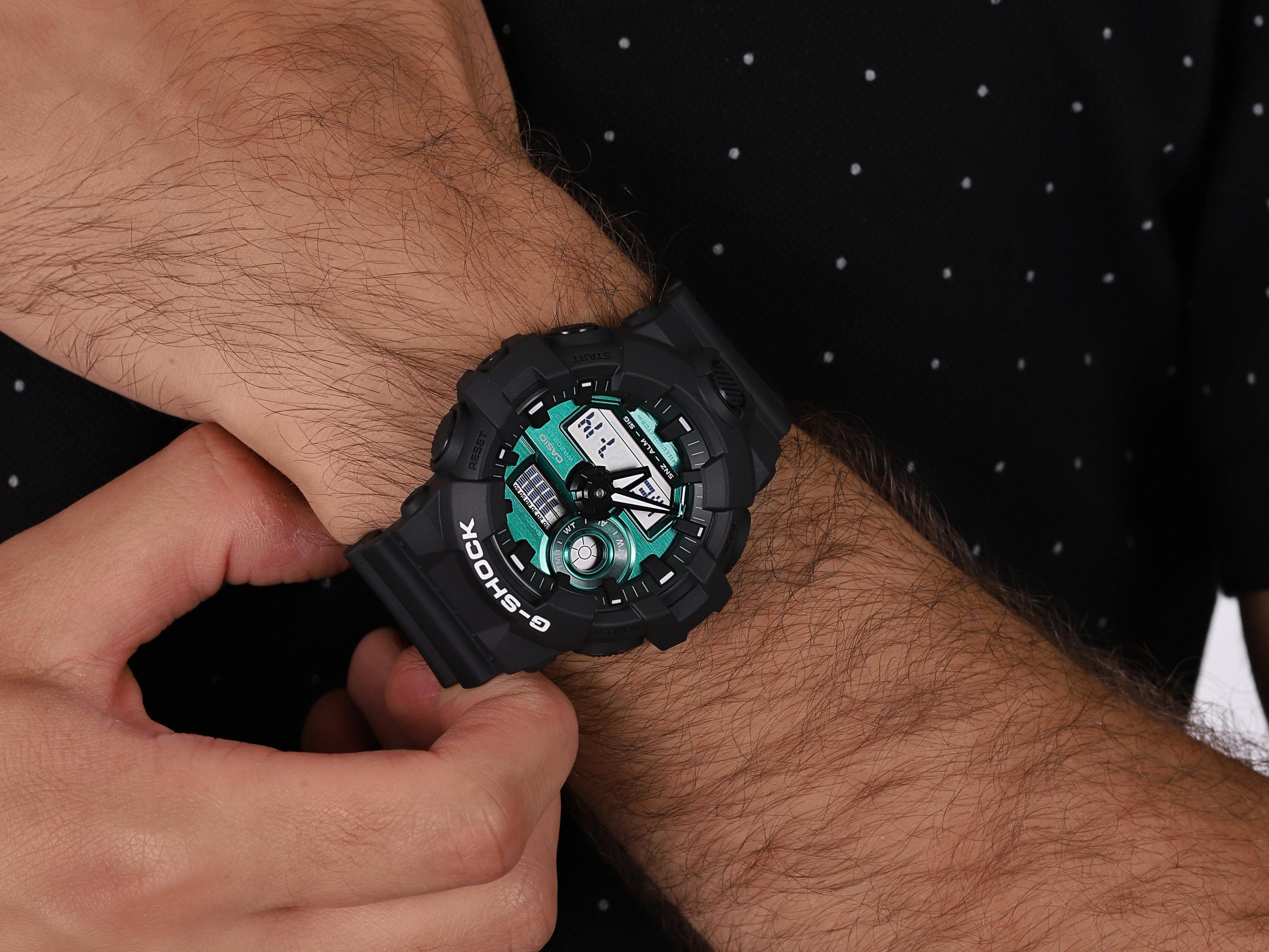 G-SHOCK GA-700MG-1AER zegarek czarny sportowy G-SHOCK Original pasek