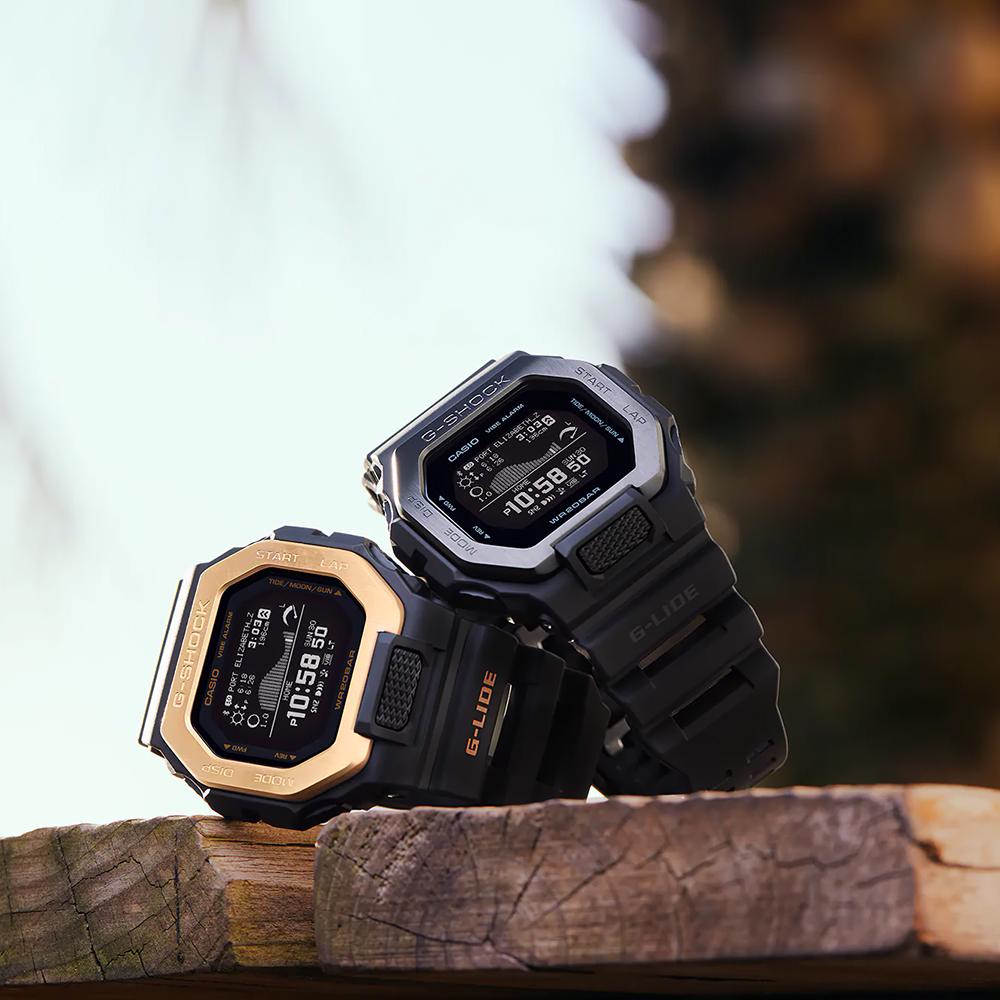 G-SHOCK GBX-100NS-4ER Analogowo - cyfrowe zegarek męski sportowy mineralne